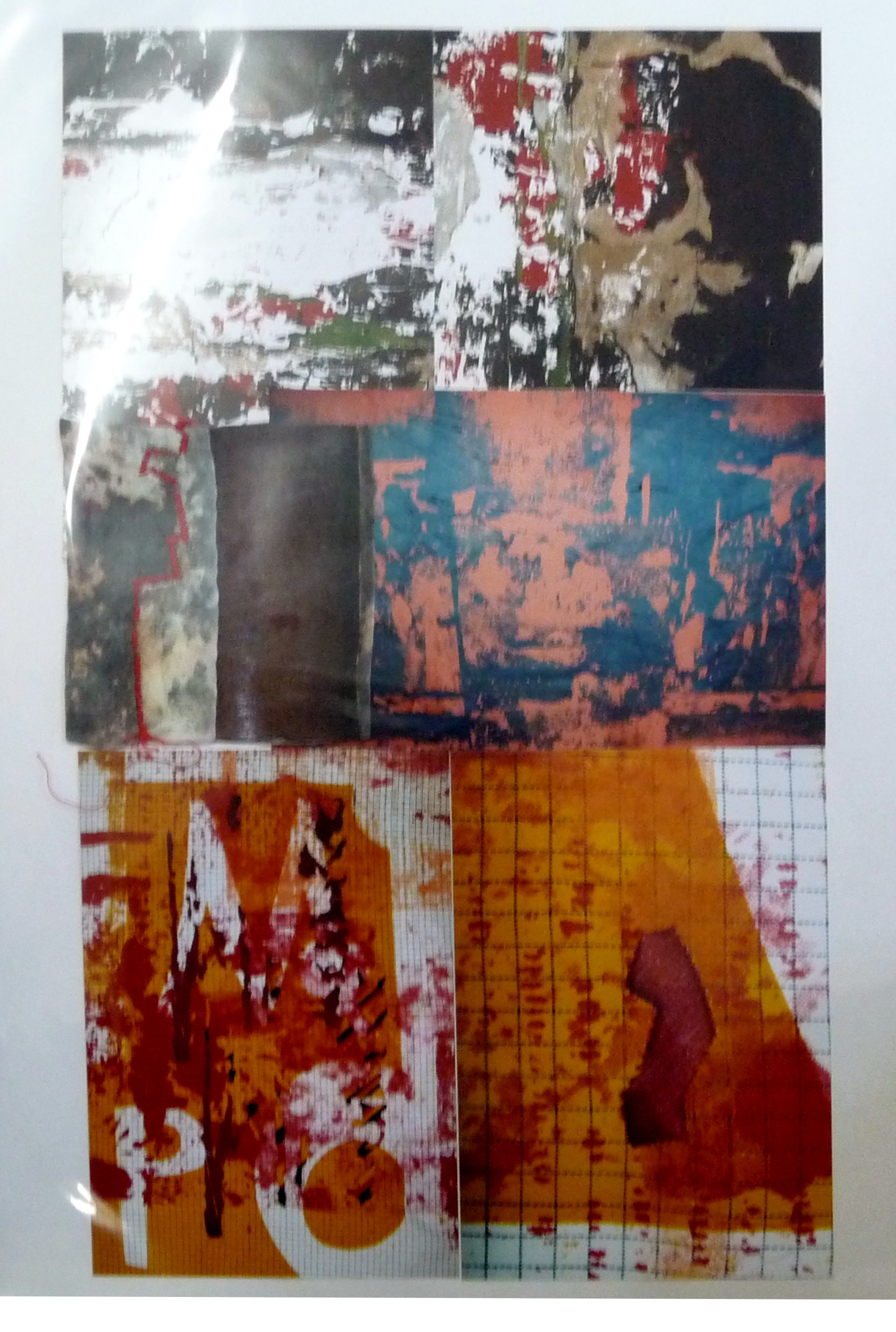 collage of screen print samples by Christine Toh