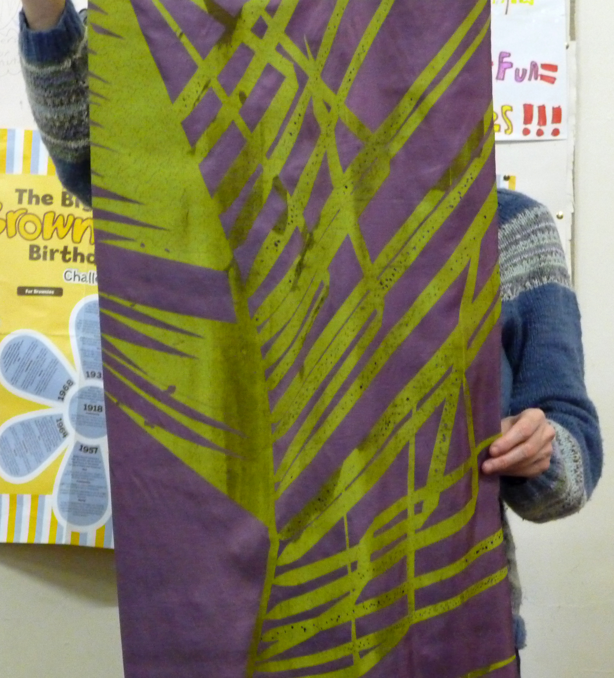 screen printed textile based on a palm leaf by Christine Toh