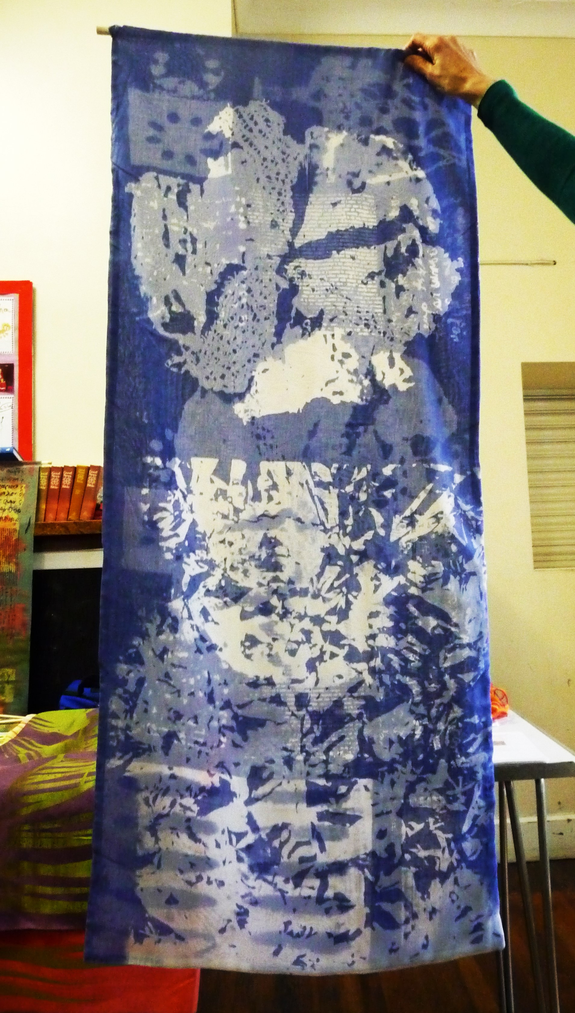 screen printed textile by Christine Toh