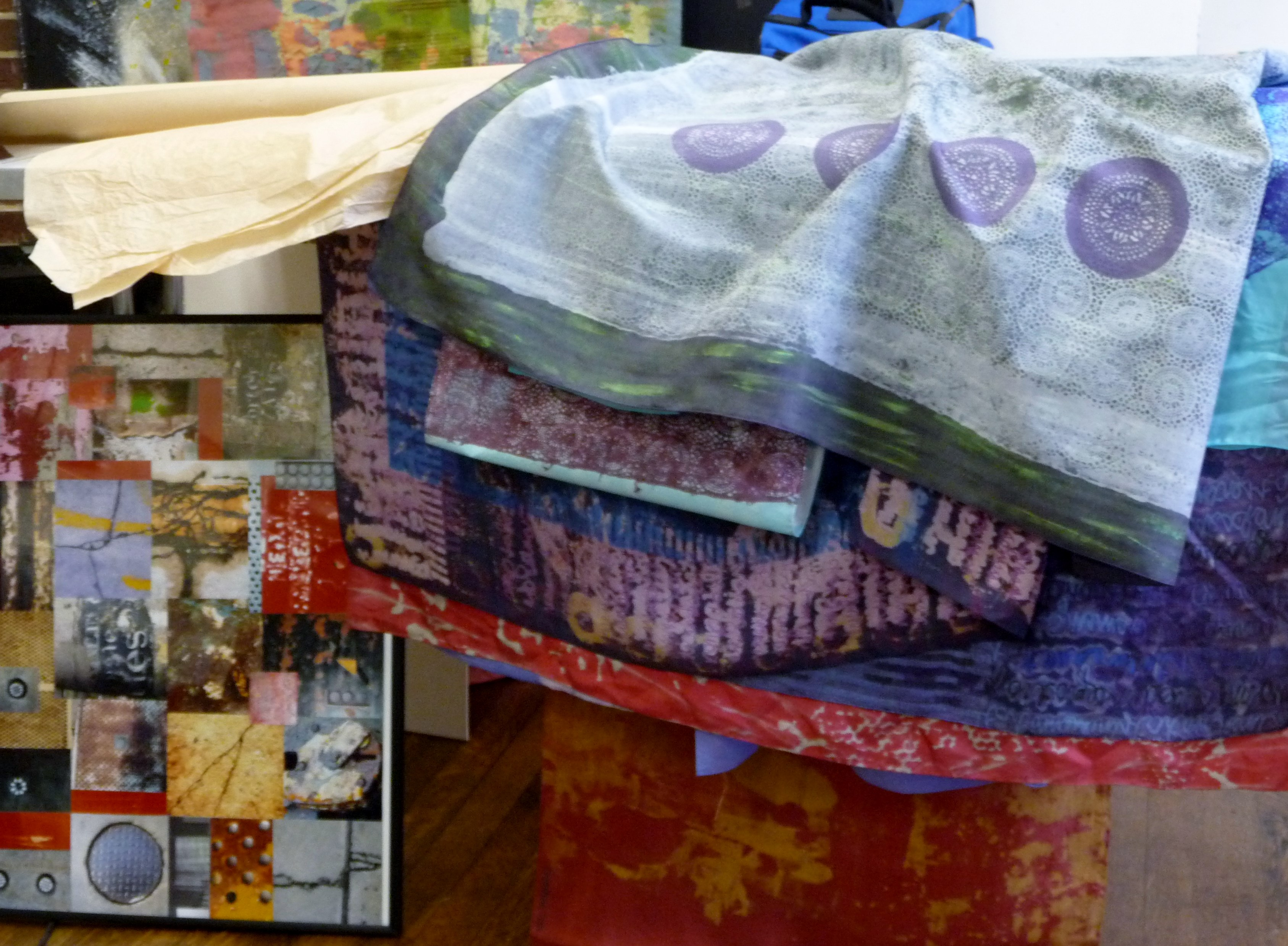 display of Christine Toh's textiles