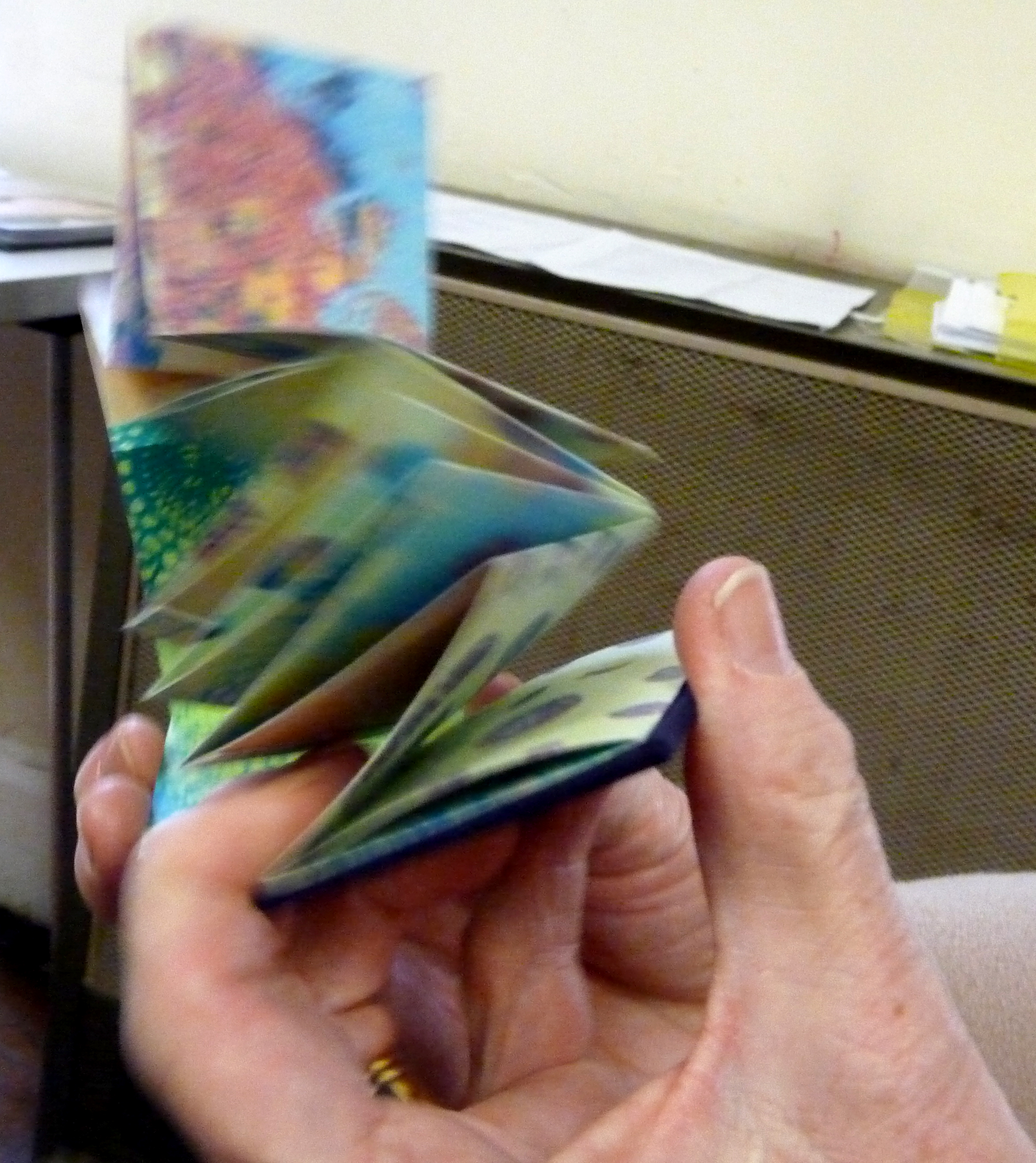 small accordian folded book made by Christine Toh
