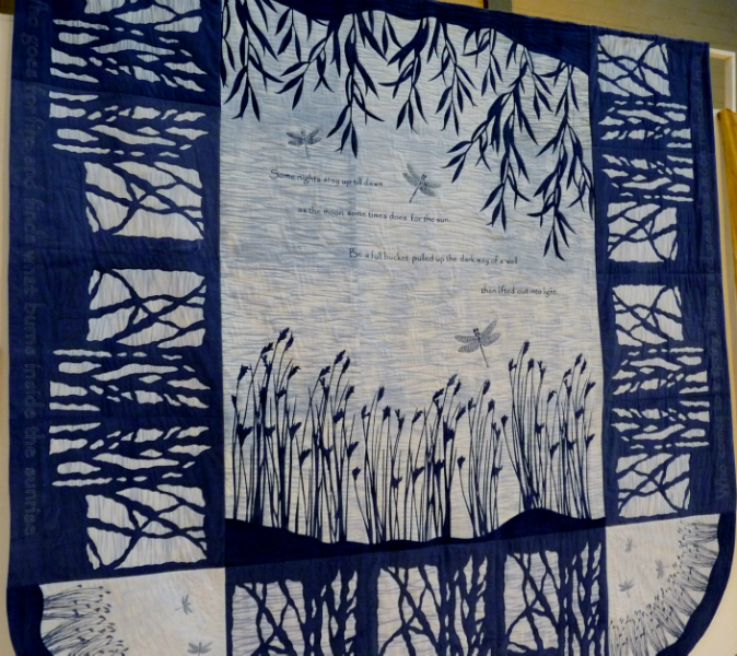 RIVER TIME, 2nd Prize Contemporary Quilts