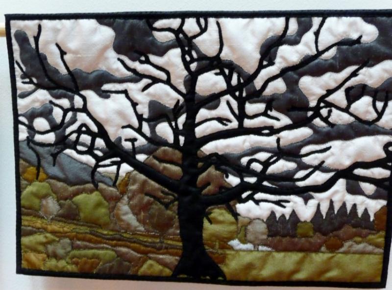 LONE TREE BY DERWENT WATER - miniature quilt