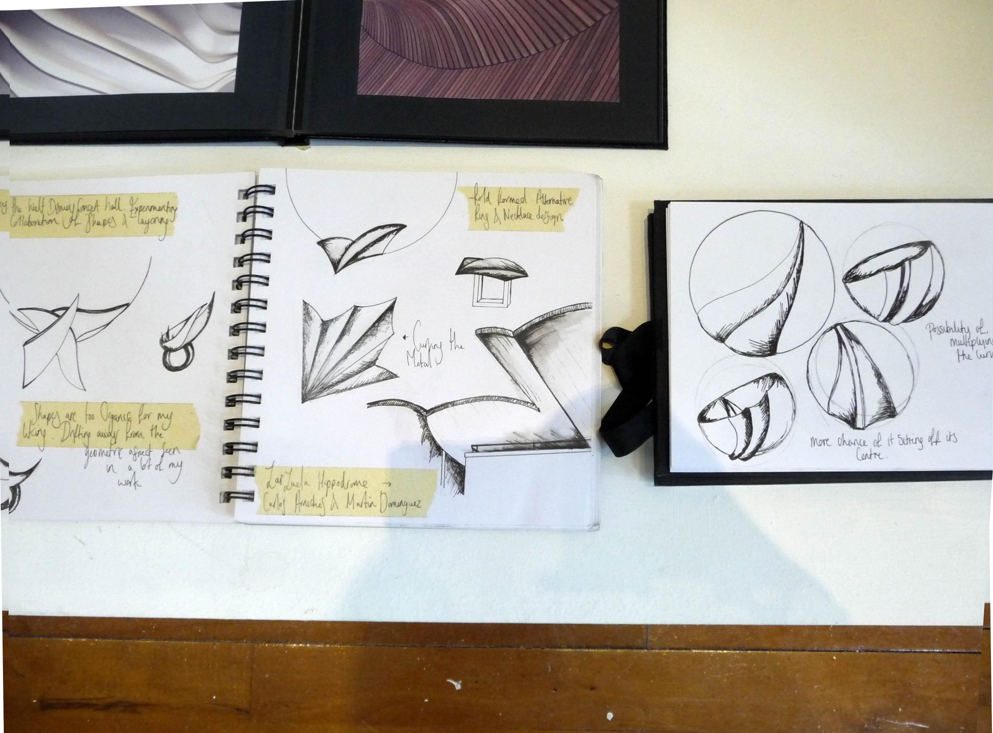Ann Tipton design sketchbook, Liverpool Hope Univ Art Degree Show 2014