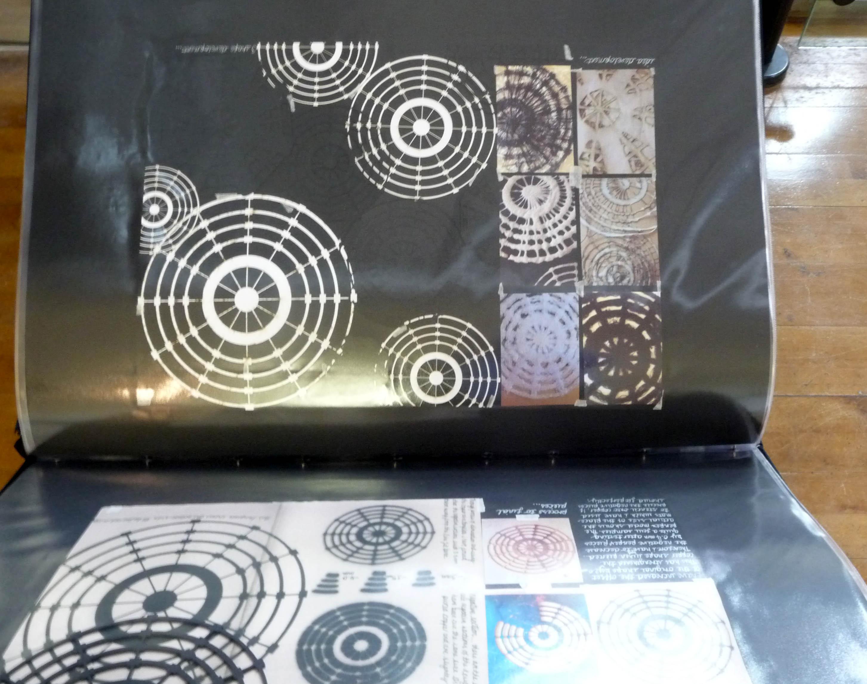 design folder by Gemma McGuinness, Liverpool Hope Univ Art Degree Show 2014