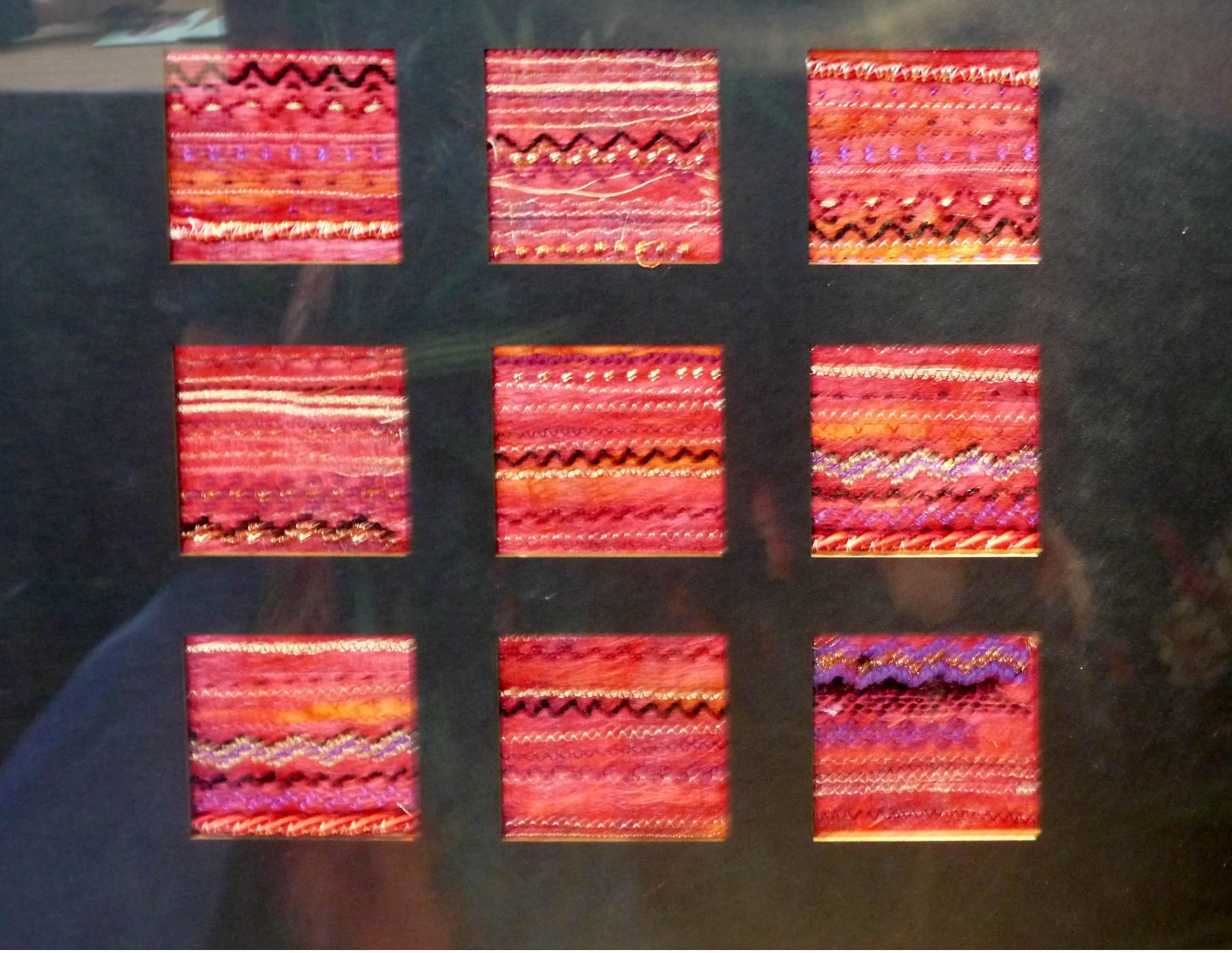 machine embroidery by Gemma Blackburn, Liverpool Hope Univ Art Degree Show 2014