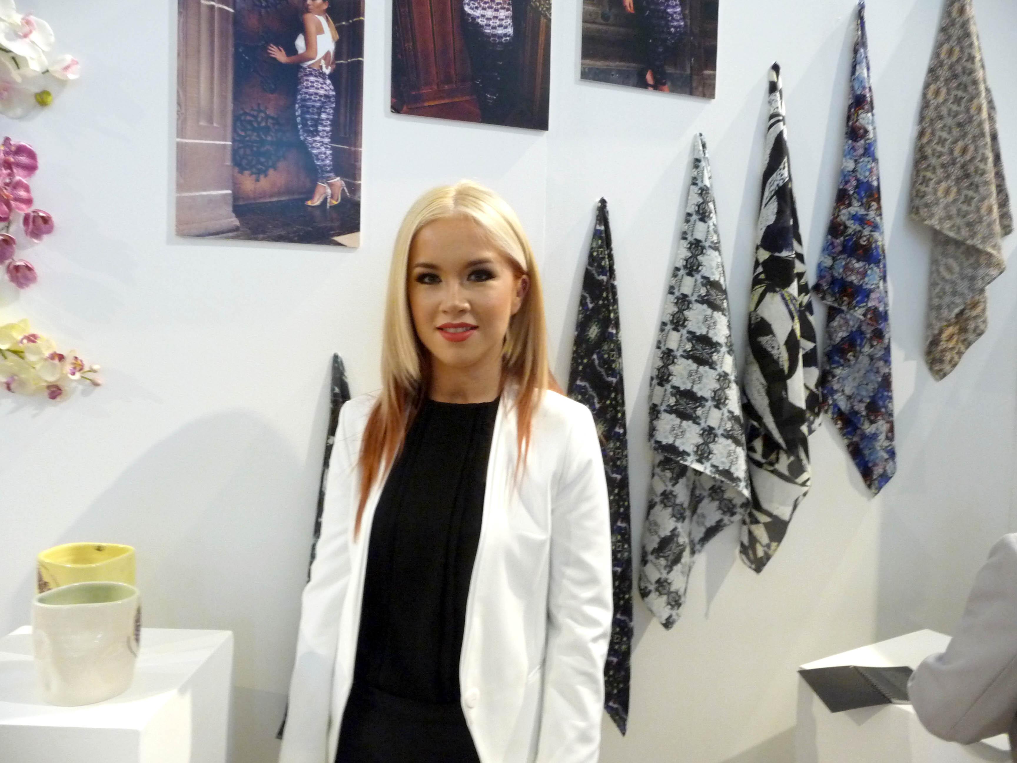 screen printed textiles by Lauren Grierson, Liverpool Hope Univ Art Degree Show 2014