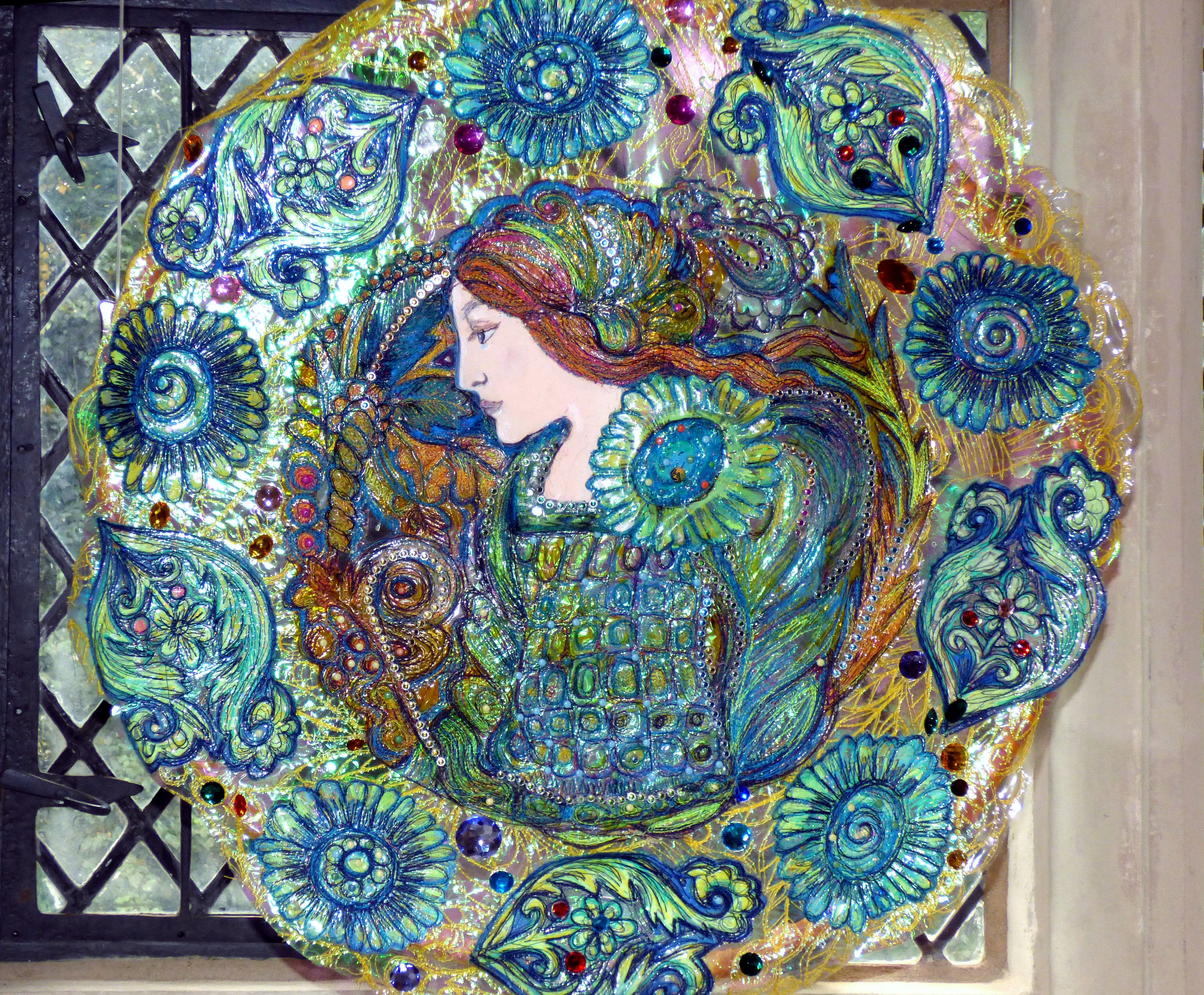 DELL ROBBIA: THE LADY by Nikki Parmenter, Gawthorpe Hall, Sept 2020