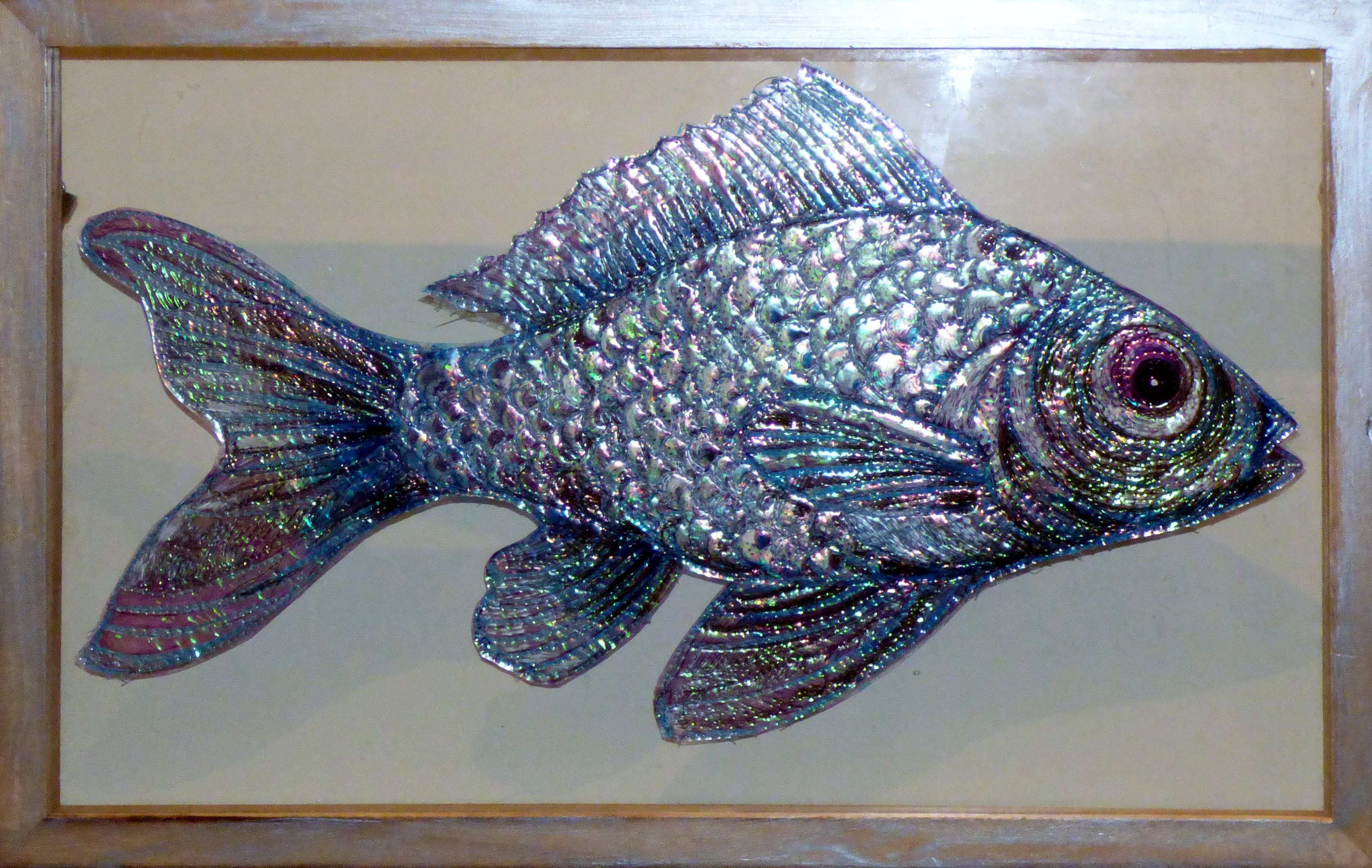 MISS RACHEL'S SILVER FISH by Nikki Parmenter, Gawthorpe Hall, Sept 2020