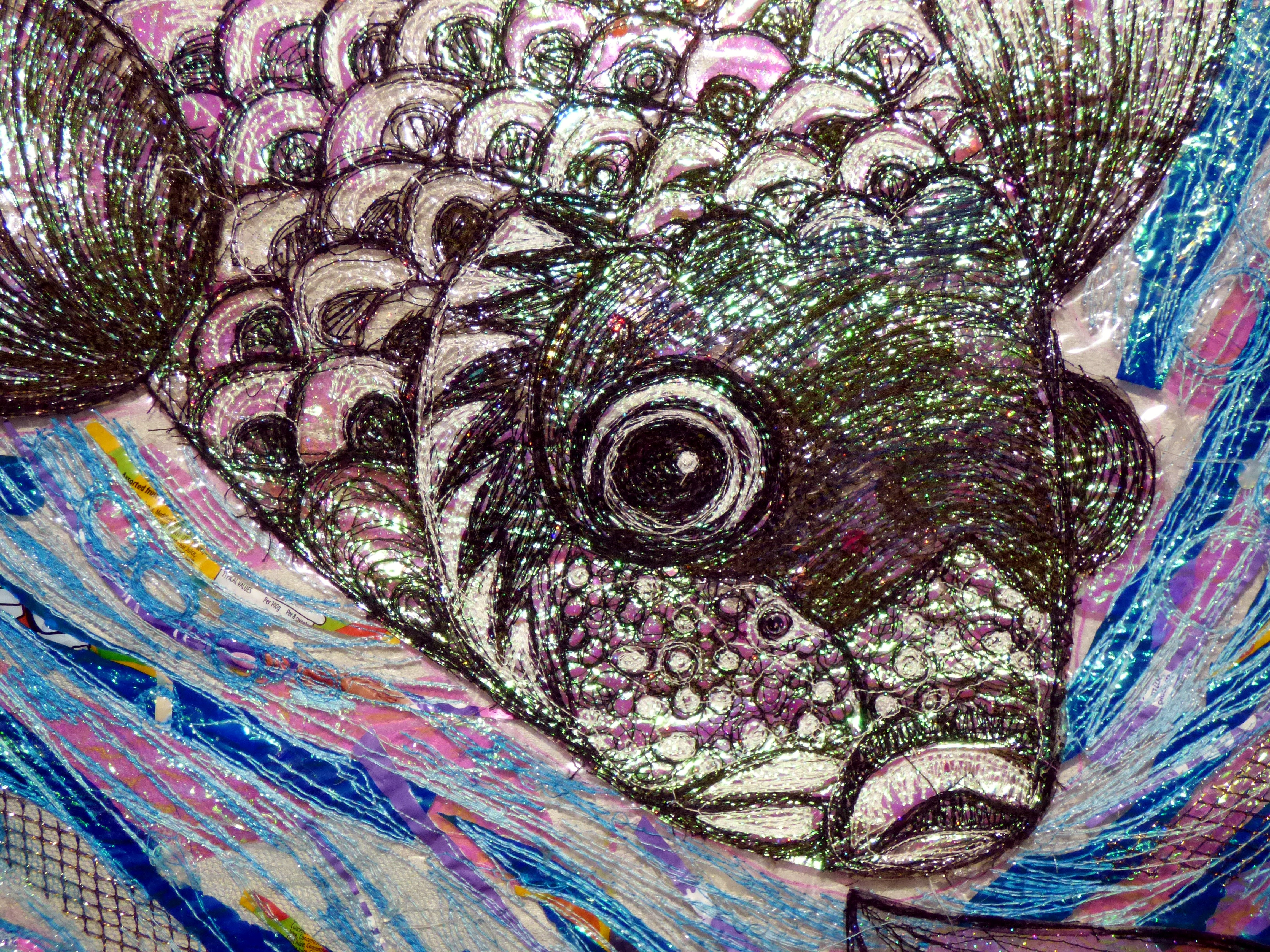 (detail) AND TWO FISHES by Nikki Parmenter, Gawthorpe Hall, Sept 2020