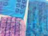 """student's work at """"From Plain to Printed"""" print Workshop with Anne Cornes, April 2019"""