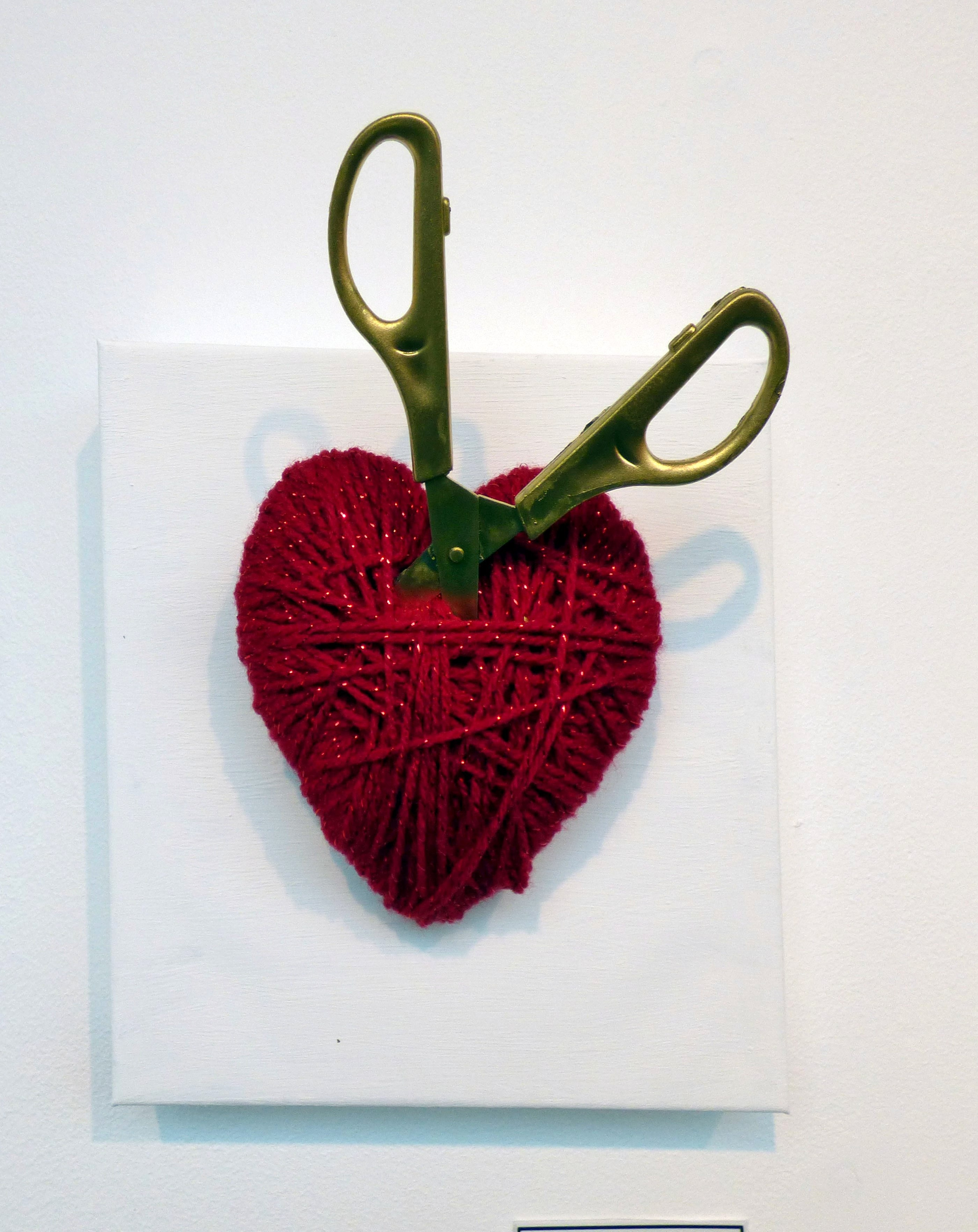 FIRST CUT IS THE DEEPEST by Anne Pritchard, mixed media. From The Heart exhibition, St Helens, Feb 2020