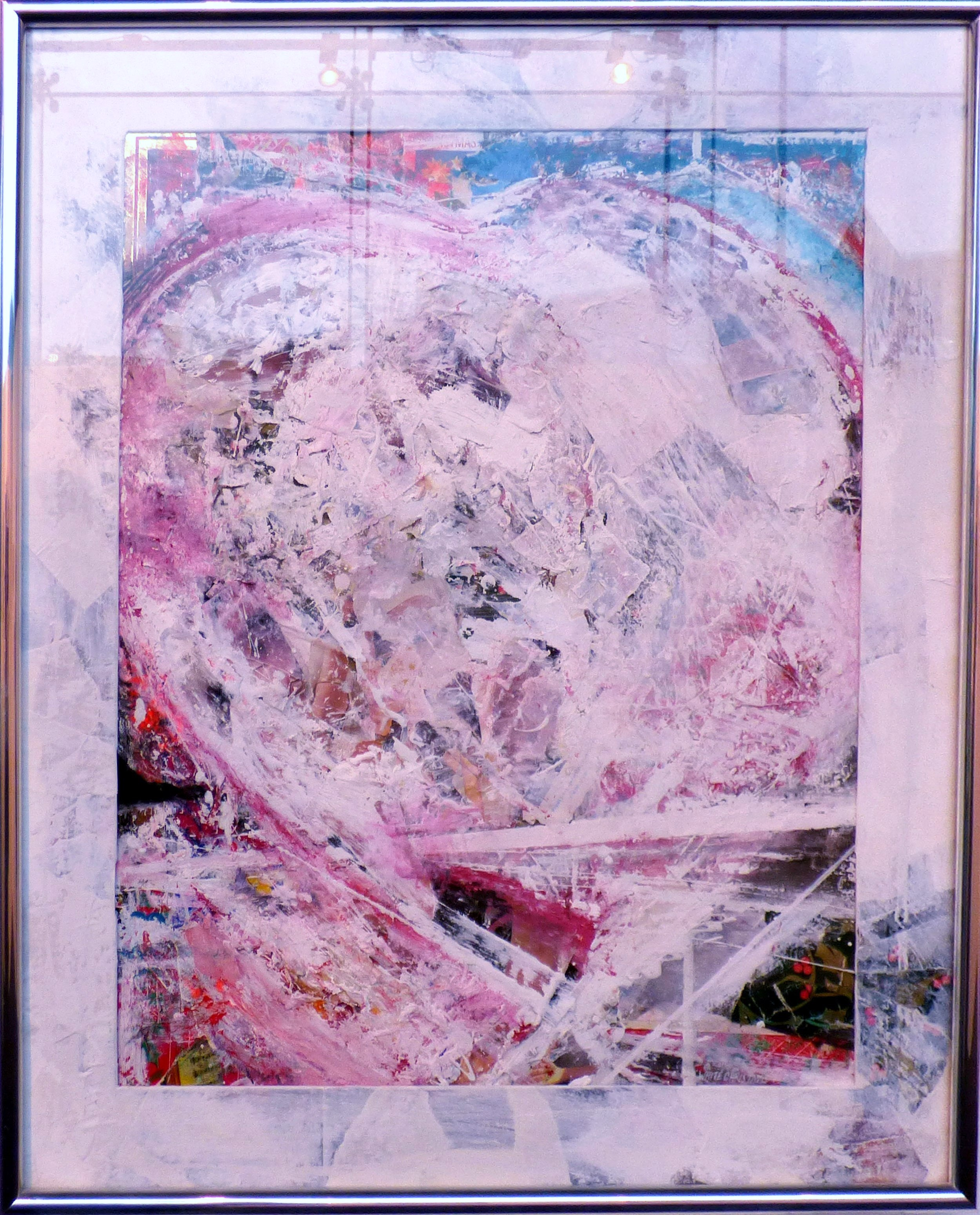 WHITE CHRISTMAS by Paul Cousins, mixed media. From The Heart exhibition, St Helens, Feb 2020