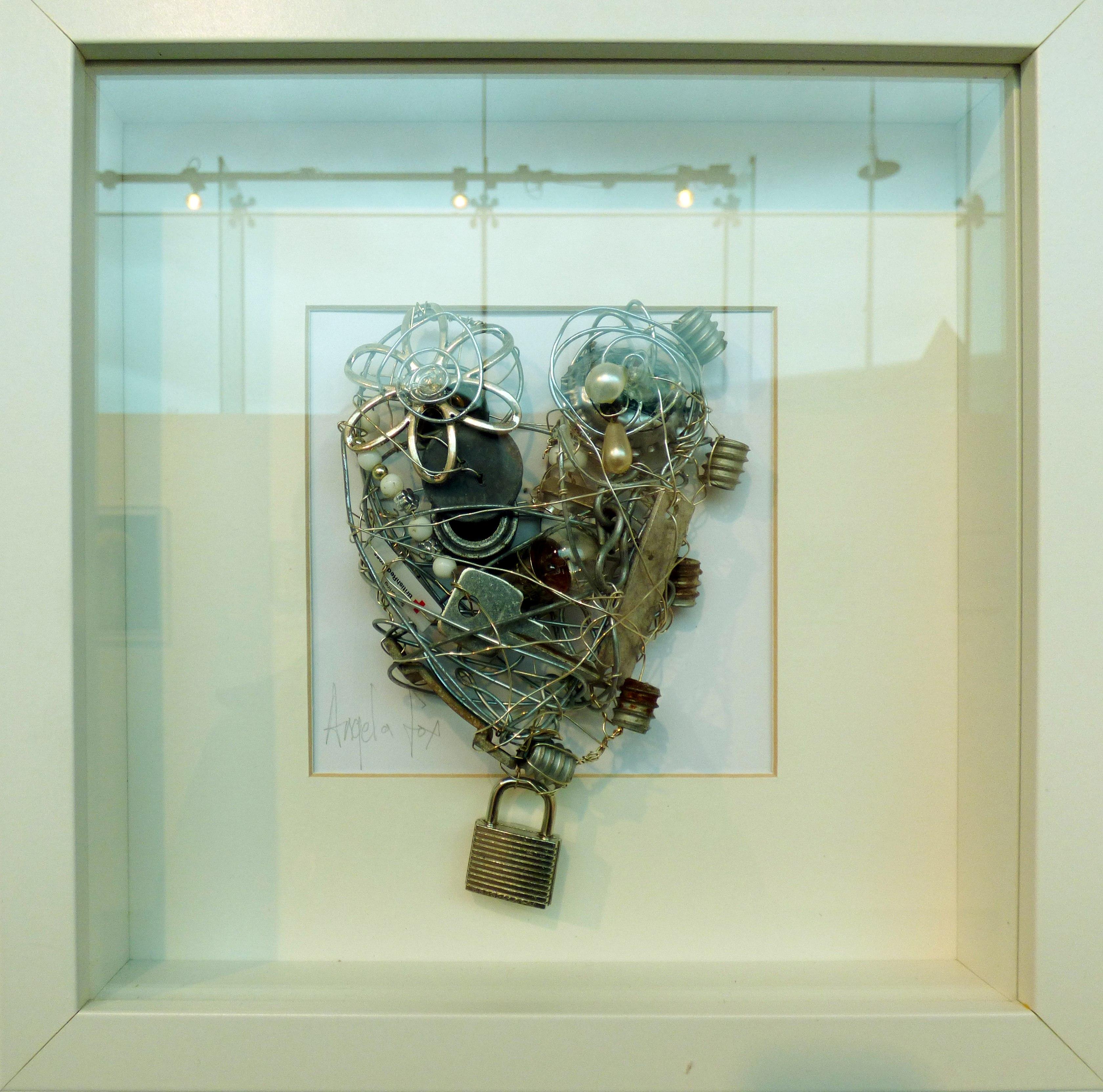 LOCKED by Angela Fox, mixed media. From The Heart exhibition, St Helens, Feb 2020