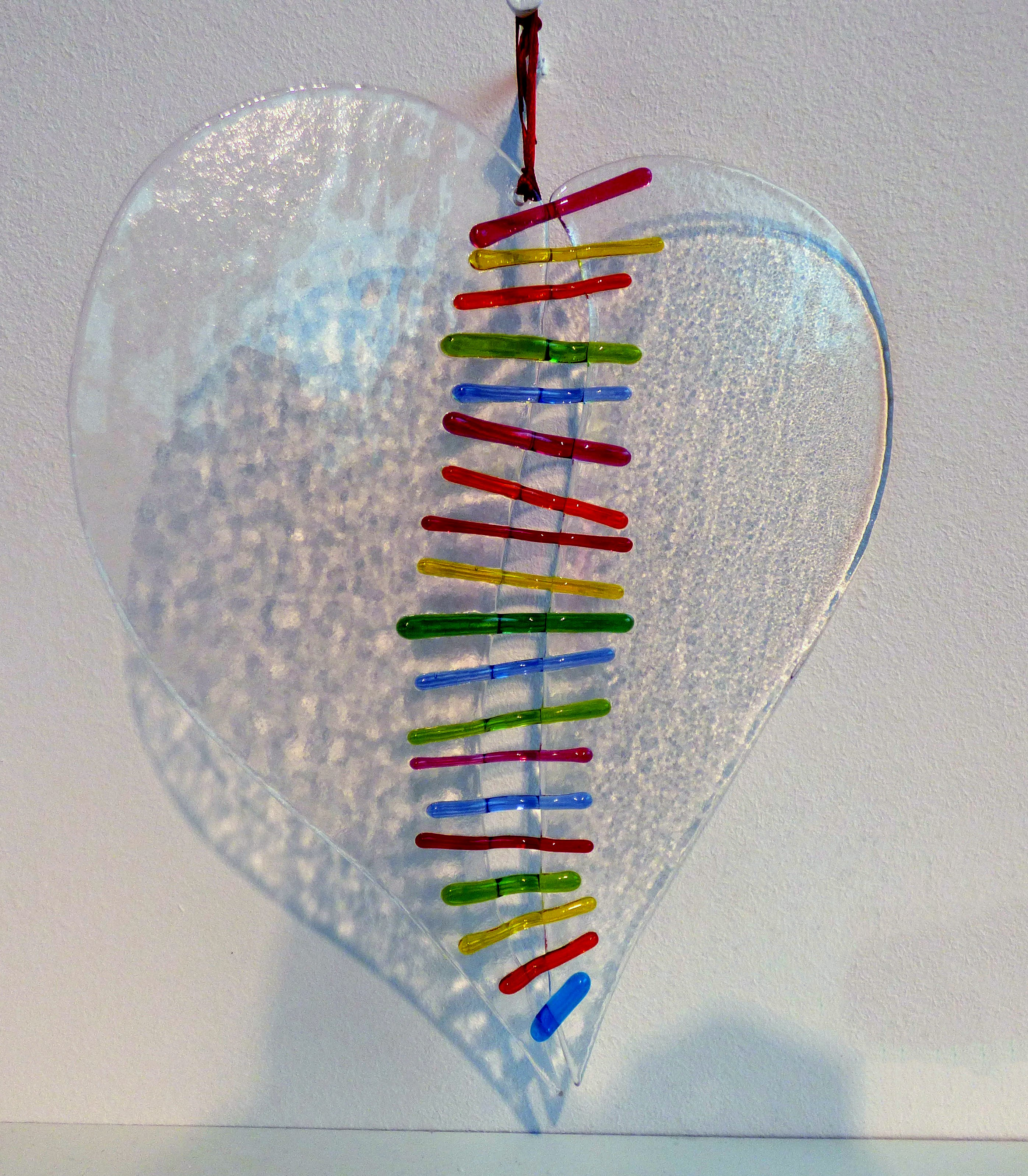 HOLD IT TOGETHER by Caroline Channing, kiln formed glass. From The Heart exhibition, St Helens, Feb 2020