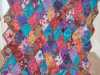 made by Gill Roberts from Kaffe Fassett  fabric remnants
