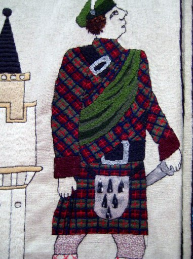 Panel of the Great Tapestry of Scotland