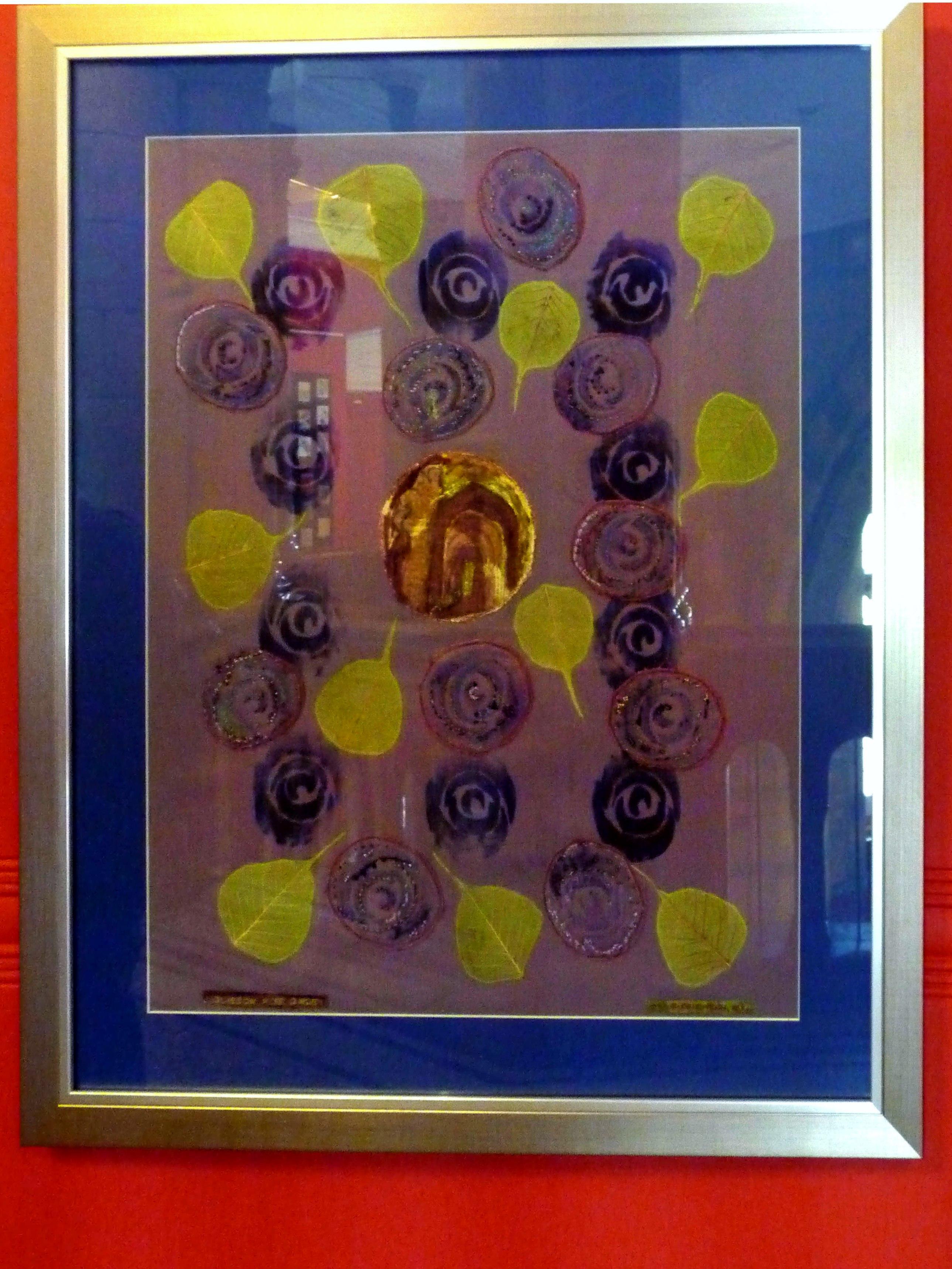 GLSGOW ROSE GARDEN, 2014, by Margaret Crichton, hand & machine embroidery