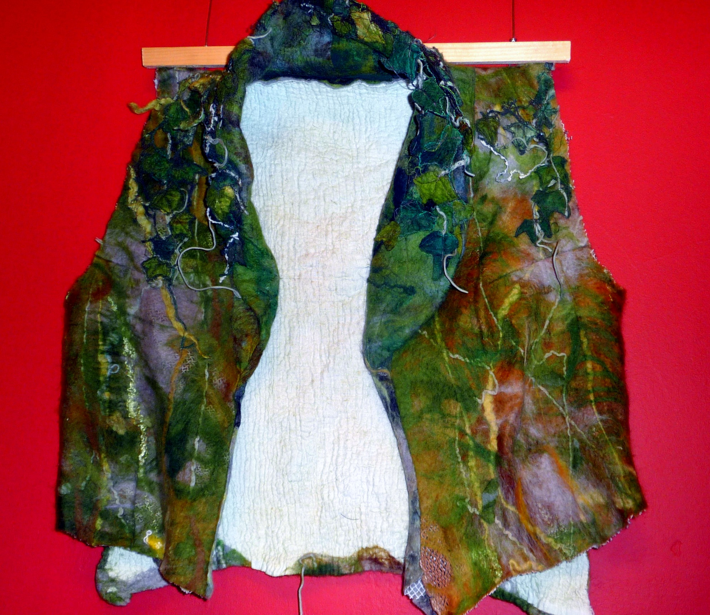 TALES FROM THE ENCHANTED WOOD, 2013, by Cathy Turner, handmade felt waistcoat
