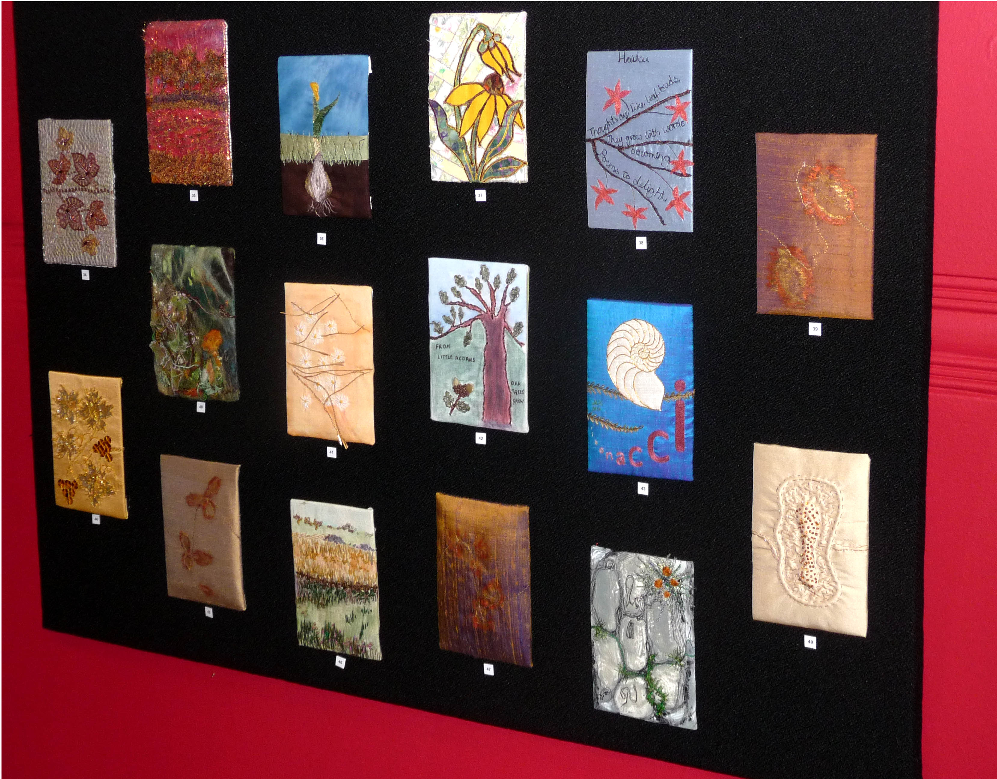 selection of postcards in GROWTH exhibition, Victoria Gallery, 2014