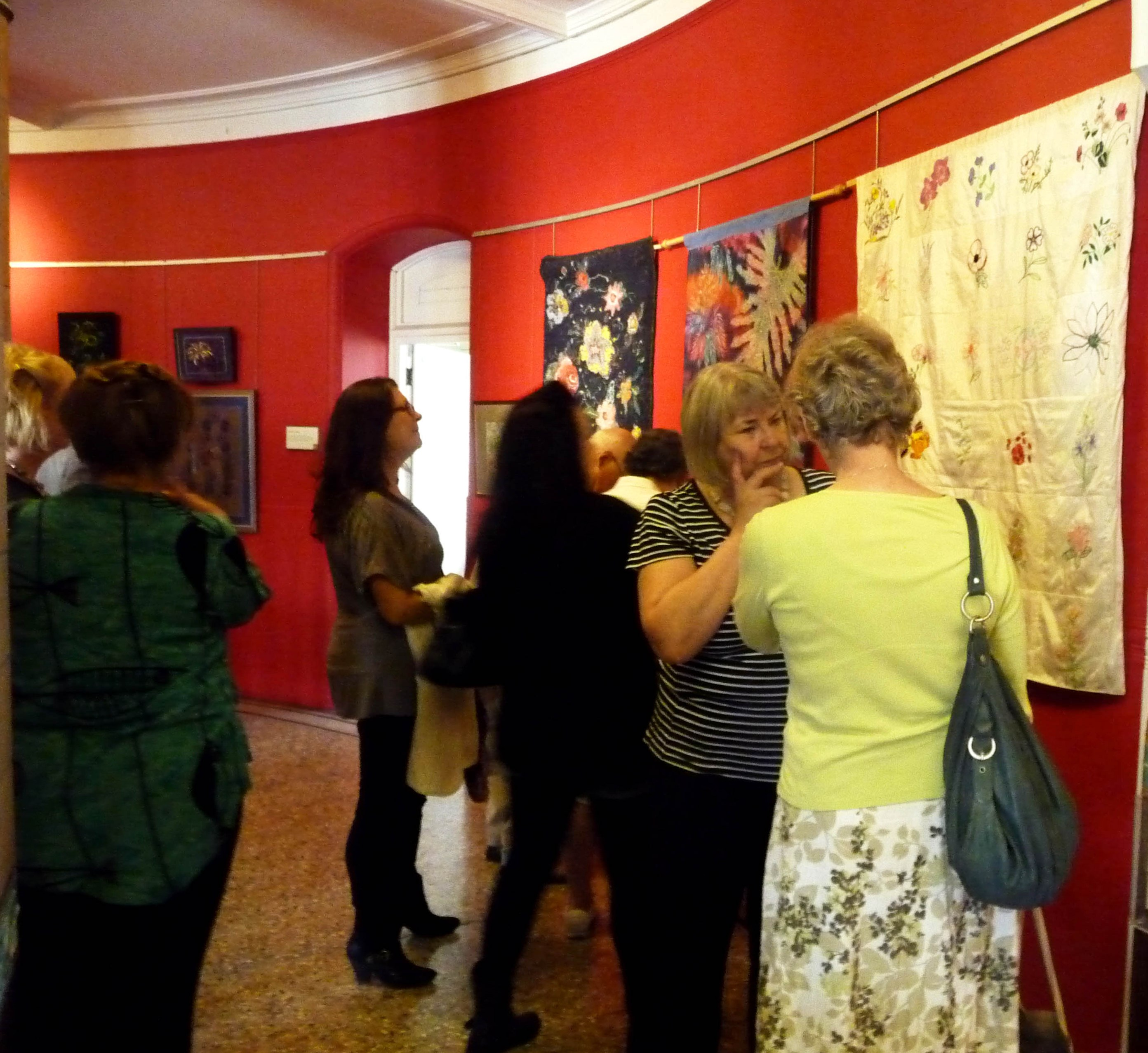 'Meet the Artists' day at GROWTH exhibition, Victoria Gallery, 2014