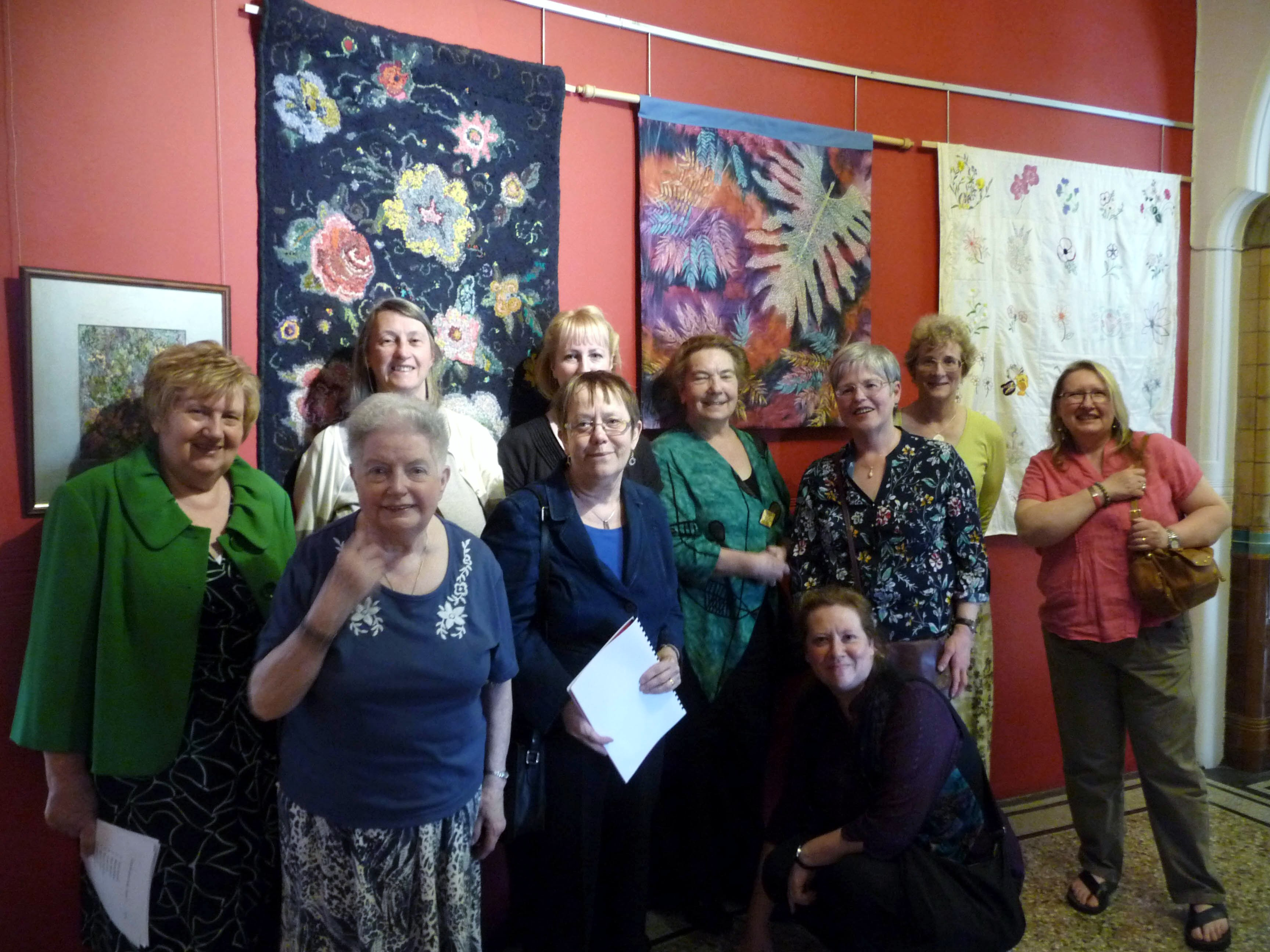 some MEG textile artists at 'Meet the Artists' day, Victoria Gallery, 2014