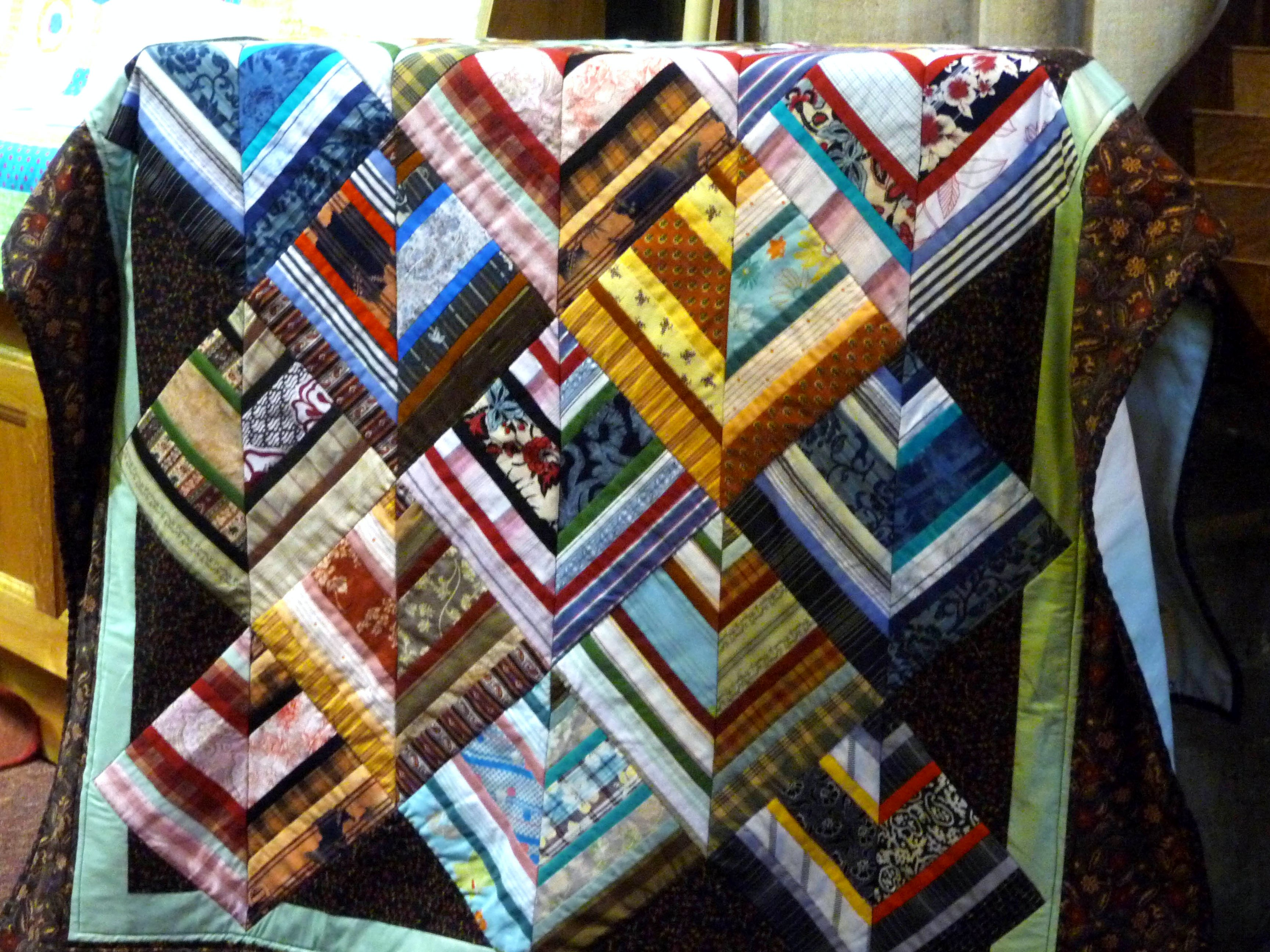 Quilt by Norma Heron, Allerton Piecemakers Group