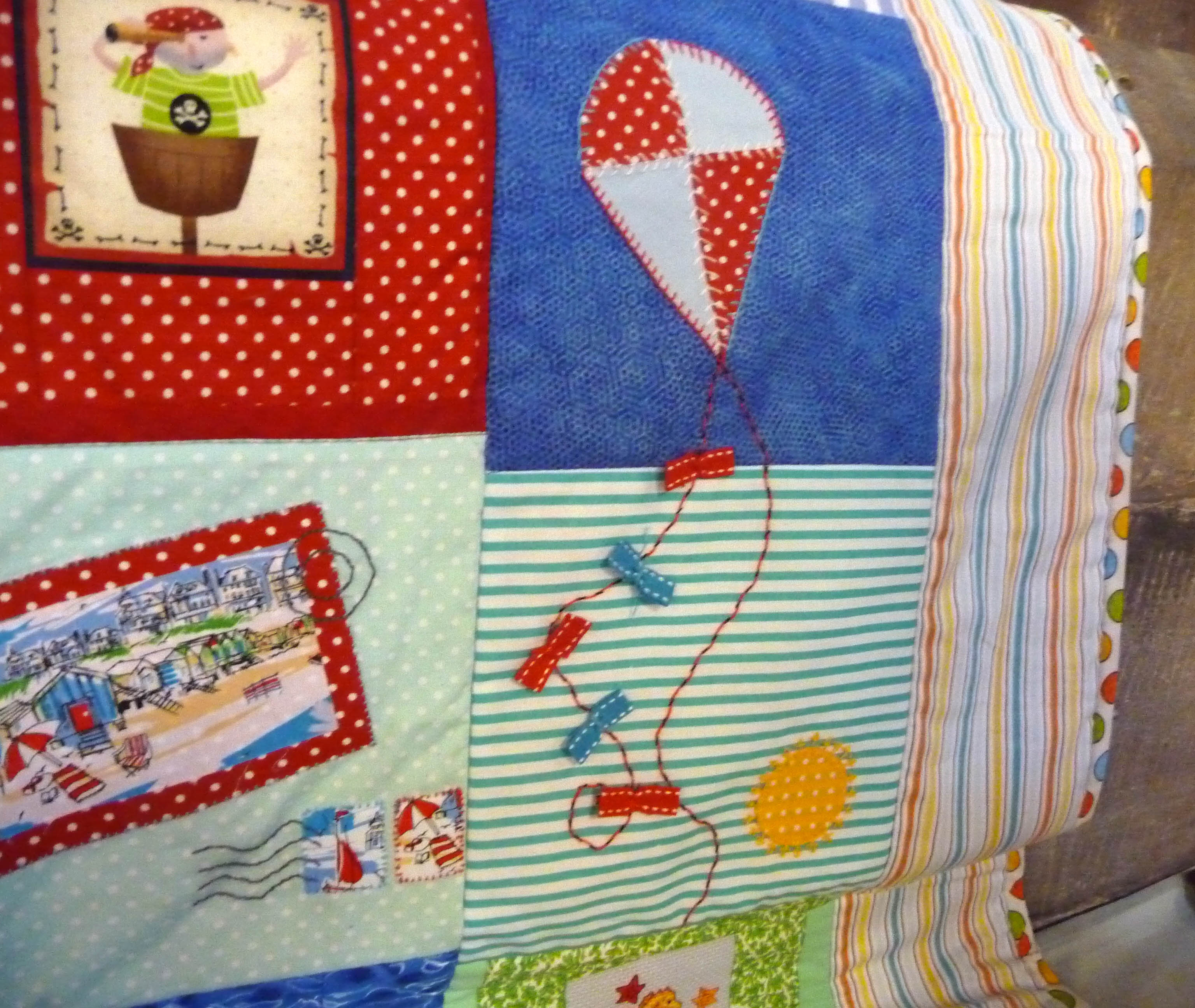 detail of quilt by Sheila Dundas, Stitchin' Sisters Group