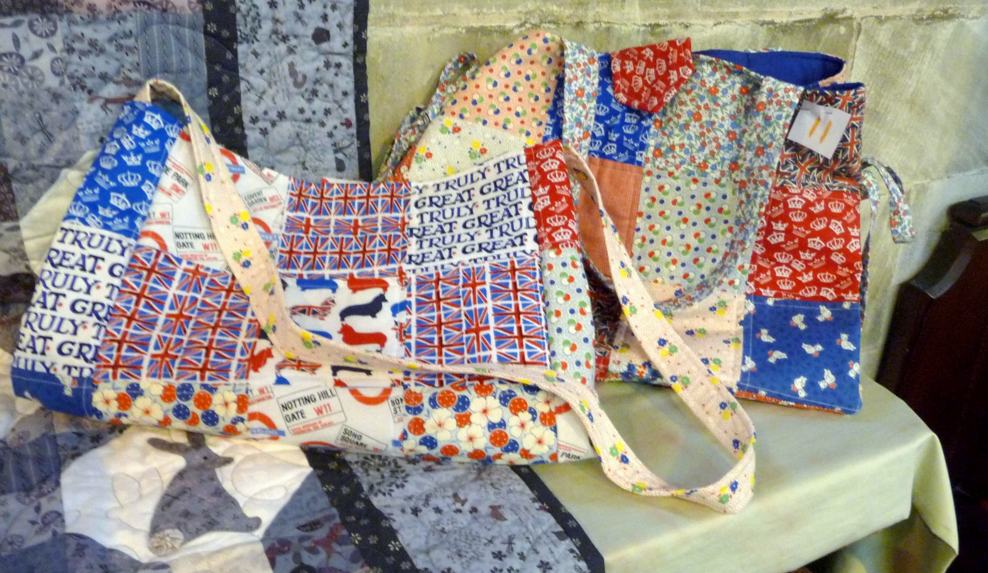 Patchwork bags by Alison Chorle, Stitchin' Sisters Group