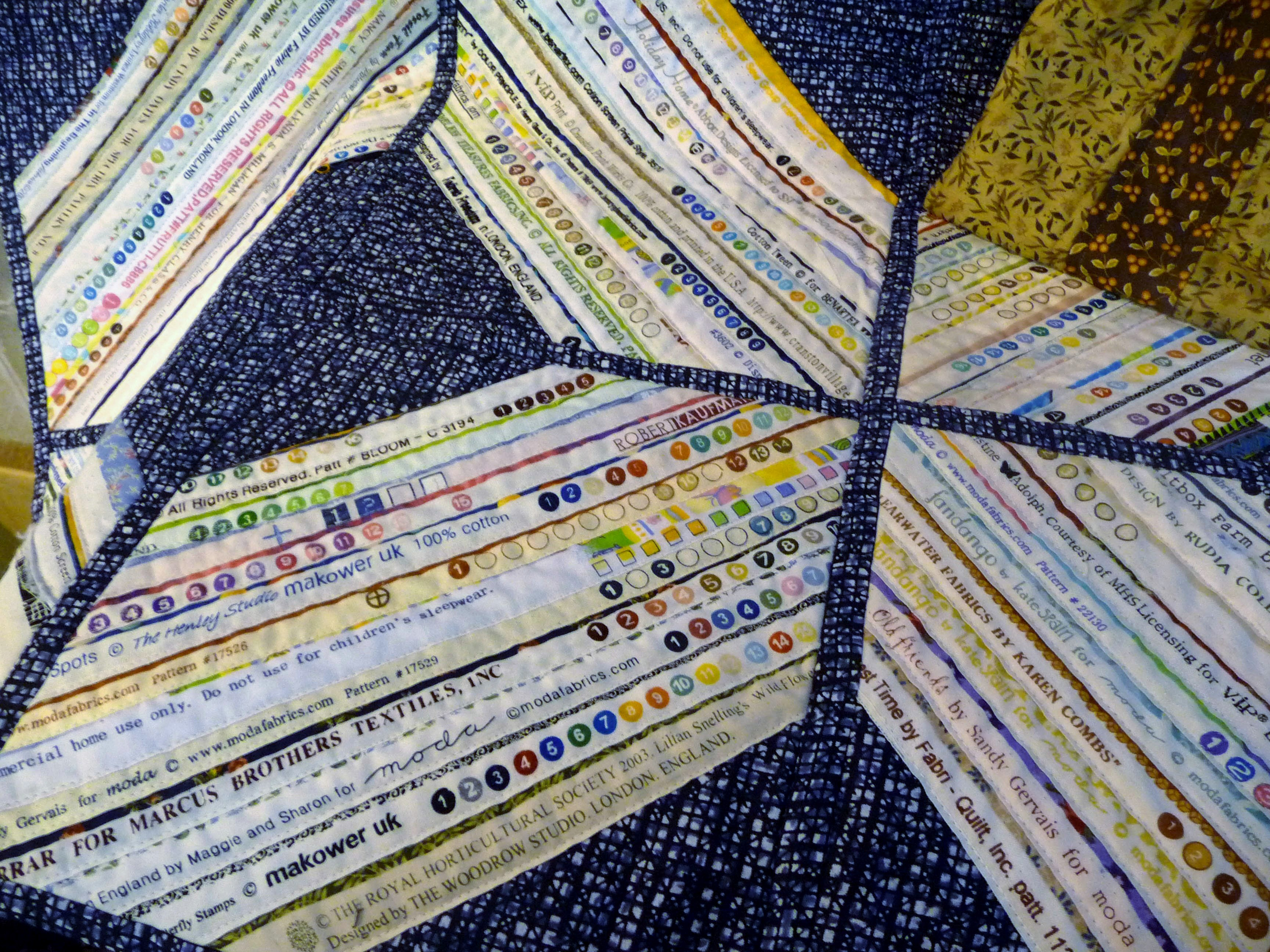 detail of quilt made by Val farmer, Stitchin' Sisters Group