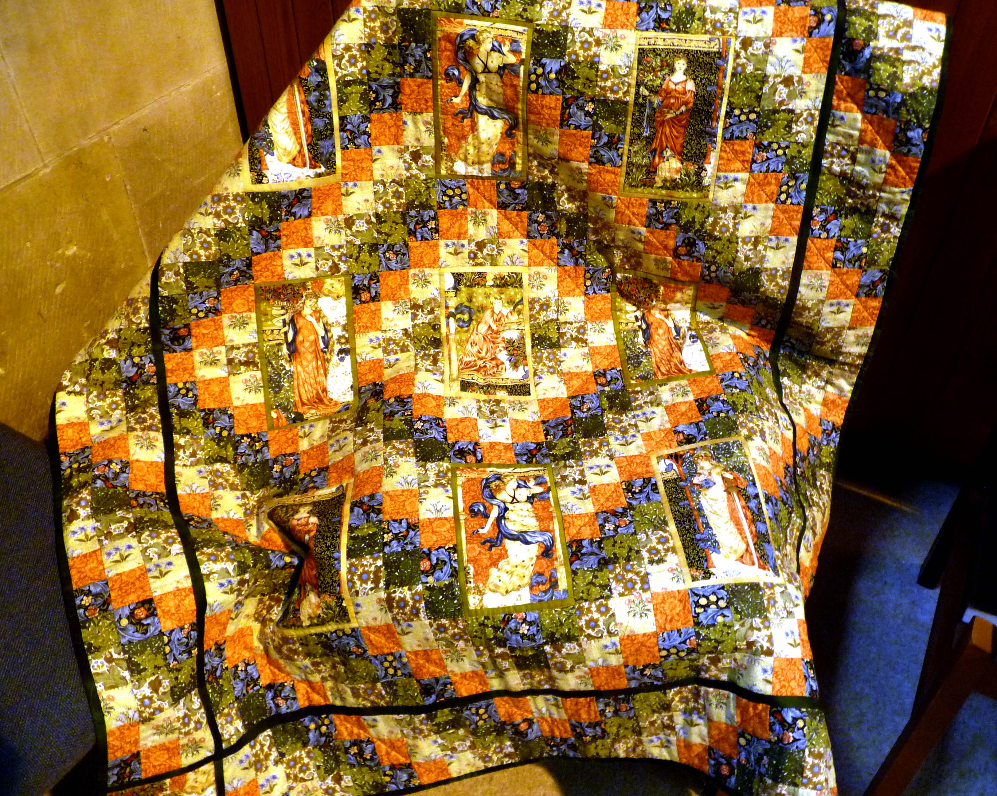 Quilt made by Gill Chamberlain, Stitchin' Sisters Group