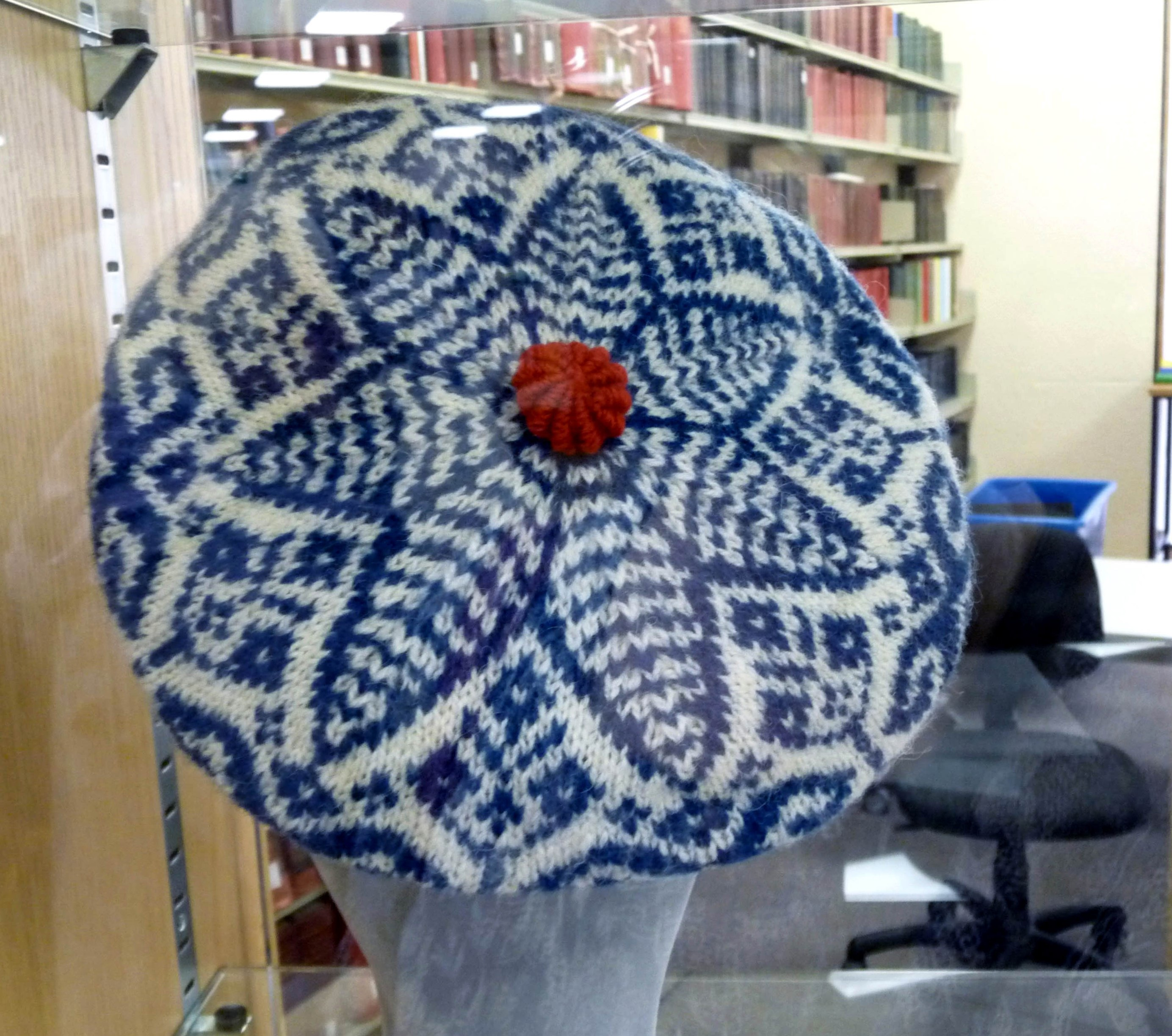KNITTED HAT by Kate Davies, inspired by a Rachael Kay Shuttleworth coverlet in Gawthorpe Hall