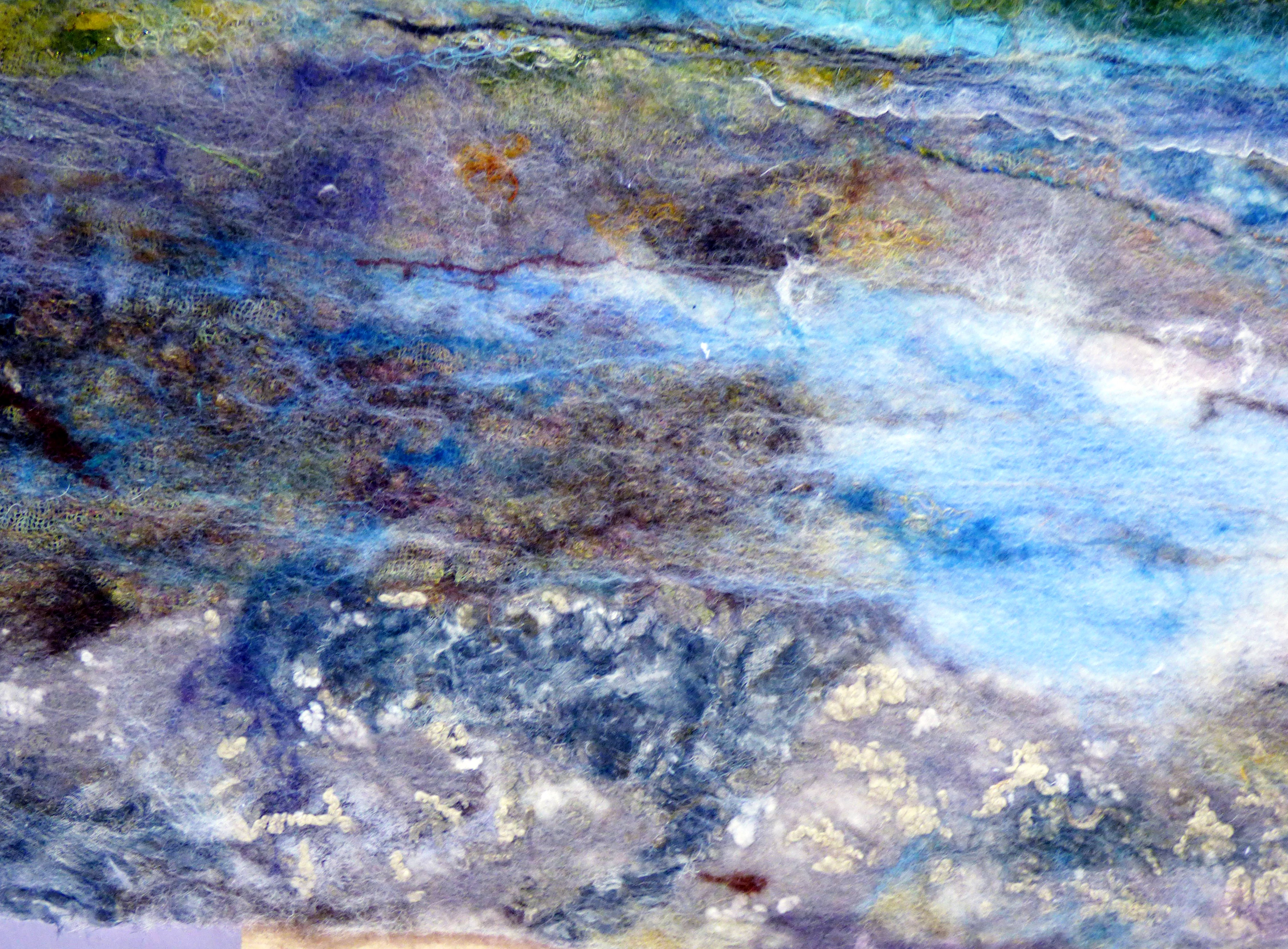 (detail) MENAI STRAIGHT by Suzanne Owen, felt incorporating fabric and fibres