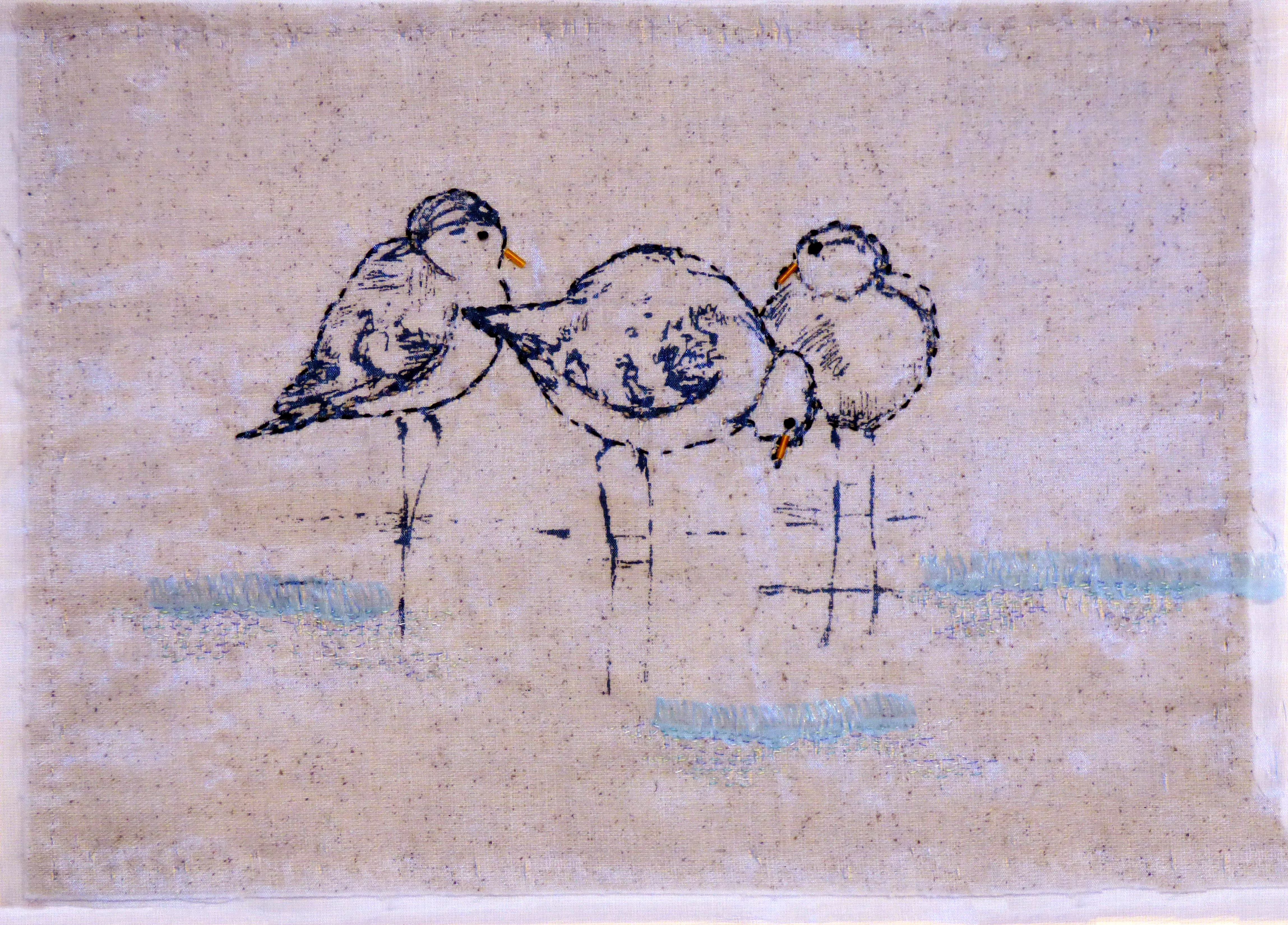THE END OF A PERFECT DAY by Pamela Headon, N.Walse EG, Thermofax printing with hand stitch
