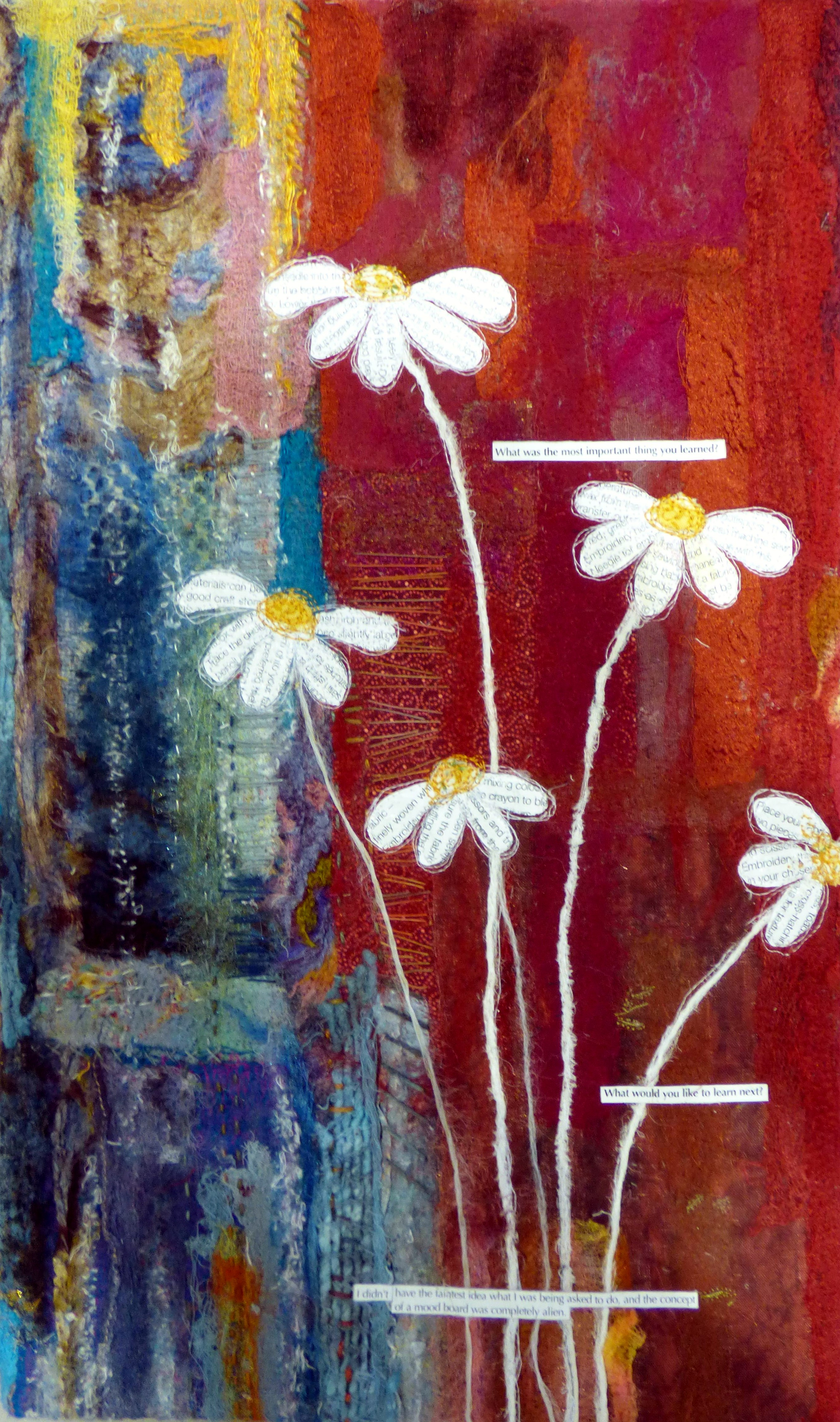 DAISIES by Miriam Forder, N.Wales EG, mixed media