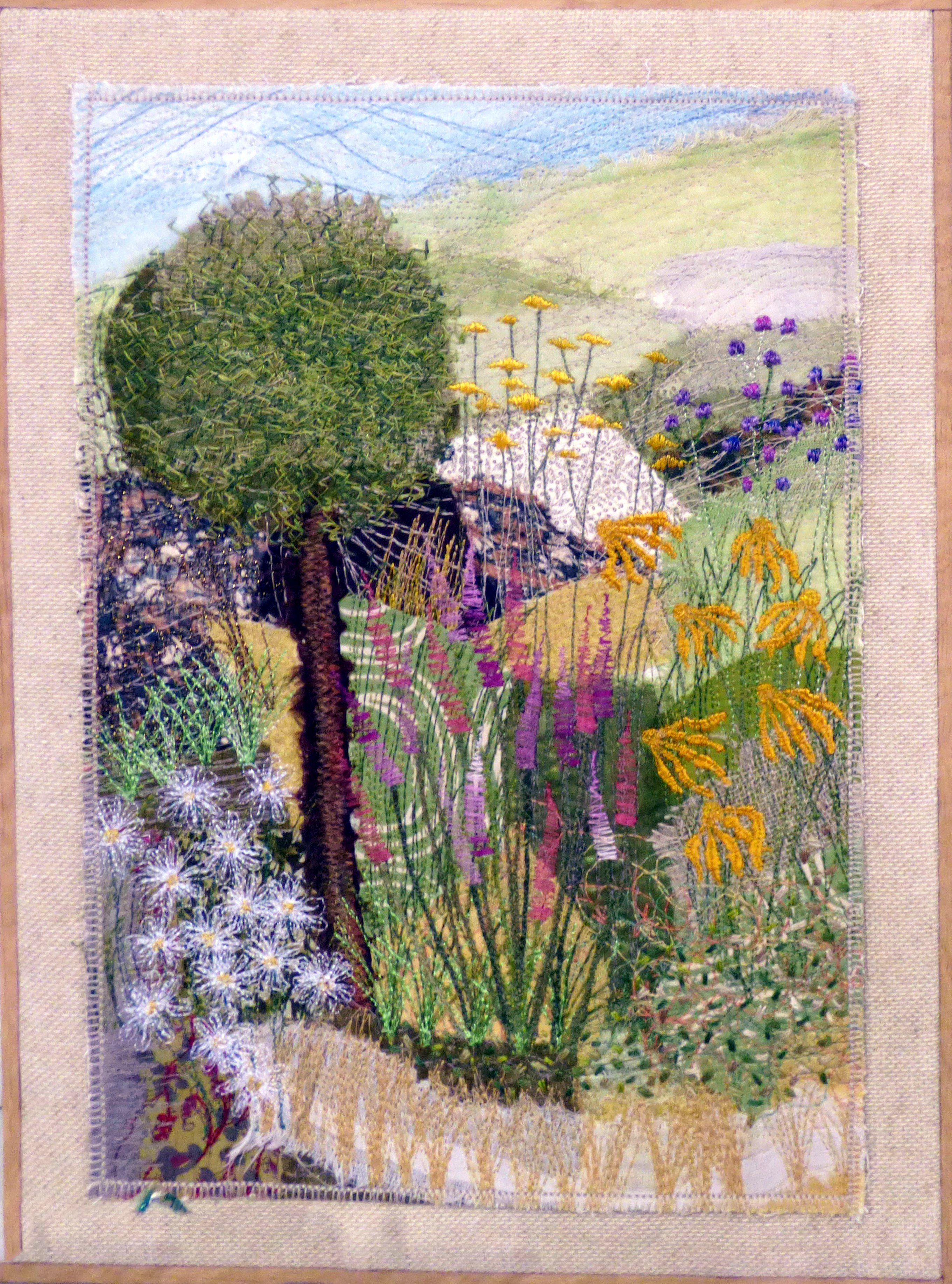 SUMMER DREAMS by Marian Williams, N.Wales EG, hand & machine embroidery