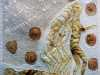 "DEMENTIA 1 ""AND WITH A SIGH"" by Melanie Baugh, N.Wales EG, rust dyed fabric with applique quilting"