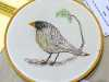 BIRD by Christine Gambles, free machine embroidery