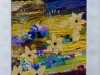 THE YELLOW BORDER by Beryl Stafford, N.Wales EG, free machine embroidered layered fabrics with applique