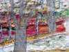 (detail) WOODLAND SCENE by brenda Dunn, N.Wales EG, free machine embroidery on calico