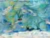 SEASCAPE by Beryl Trimby, N.Wales EG, felt and stitch on canvas