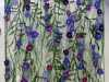 PURPLE FLOWERS by Moya McCarthy, N.Wales EG, free machine embroidery on dissolvable fabric