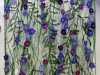 PURPLE FLOWERS by Moya McCarthy, N.Wales EG, free machine embroidery on dissolvable fabric