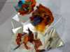 3 BROOCHES by Christine Caukill, N.Wales EG, embellished and wet felted brooches