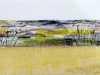 WALK BY THE RIVERBANK by Miriam Forder, N.Wales EG, mixed media & stitch