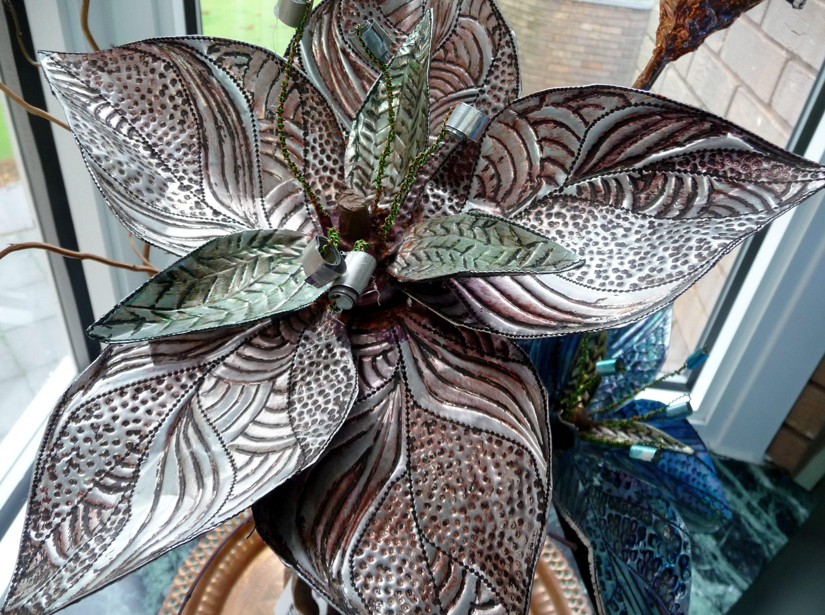 metal flowers by Carol Danks