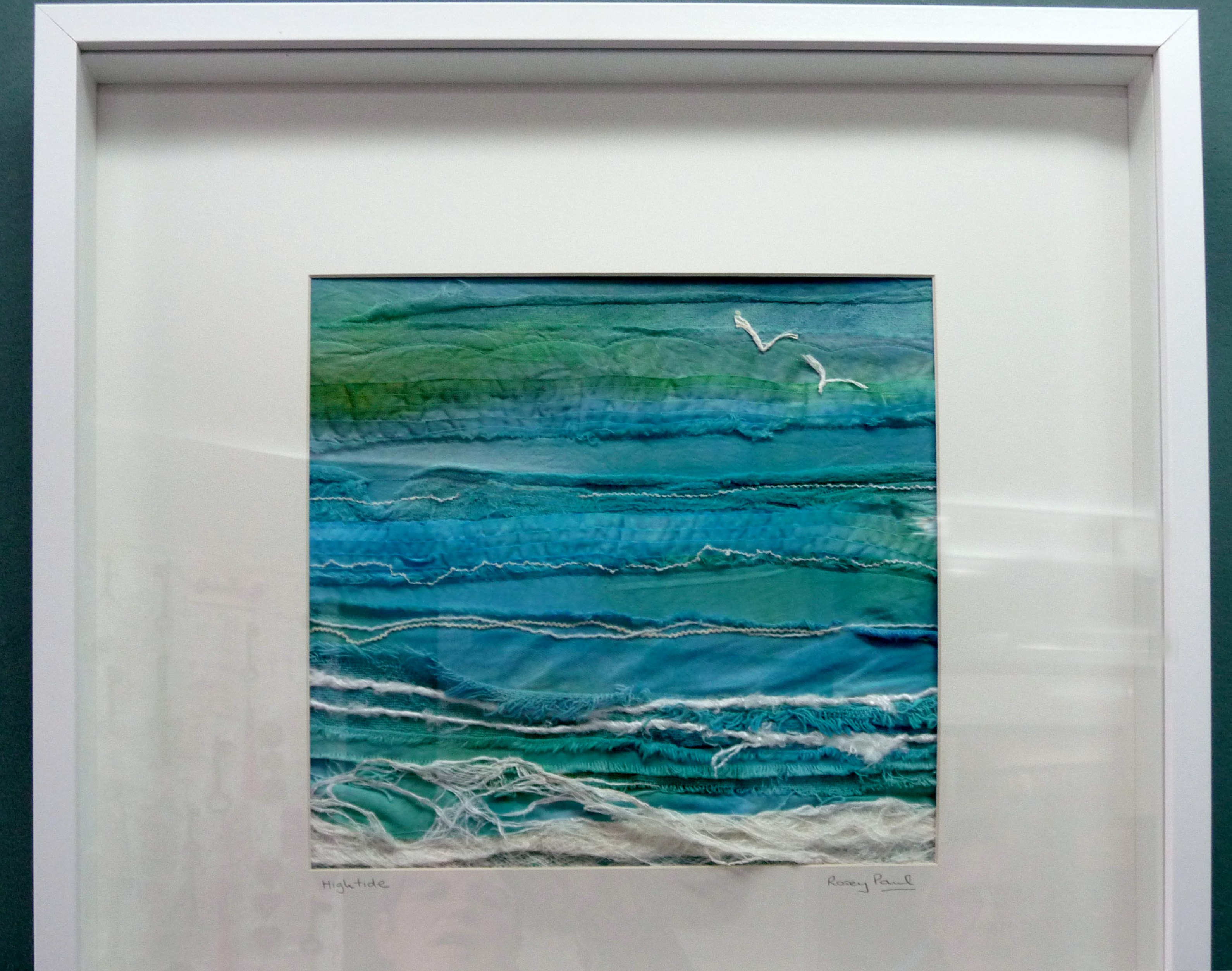 HIGH TIDE, embroidery by Rosey Paul