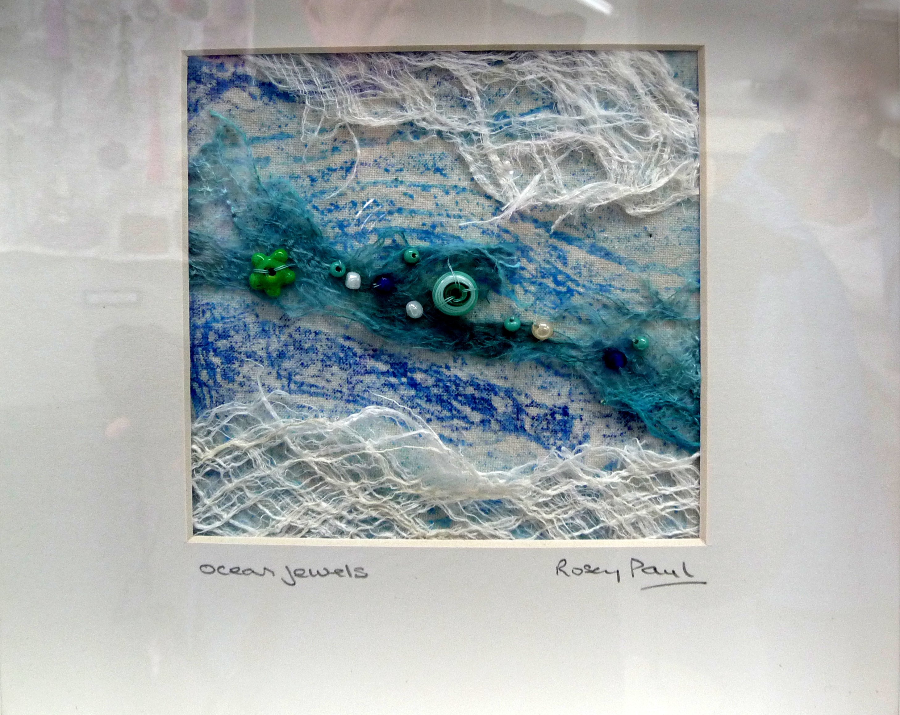 OCEAN JEWELS, embroidery by Rosey Paul