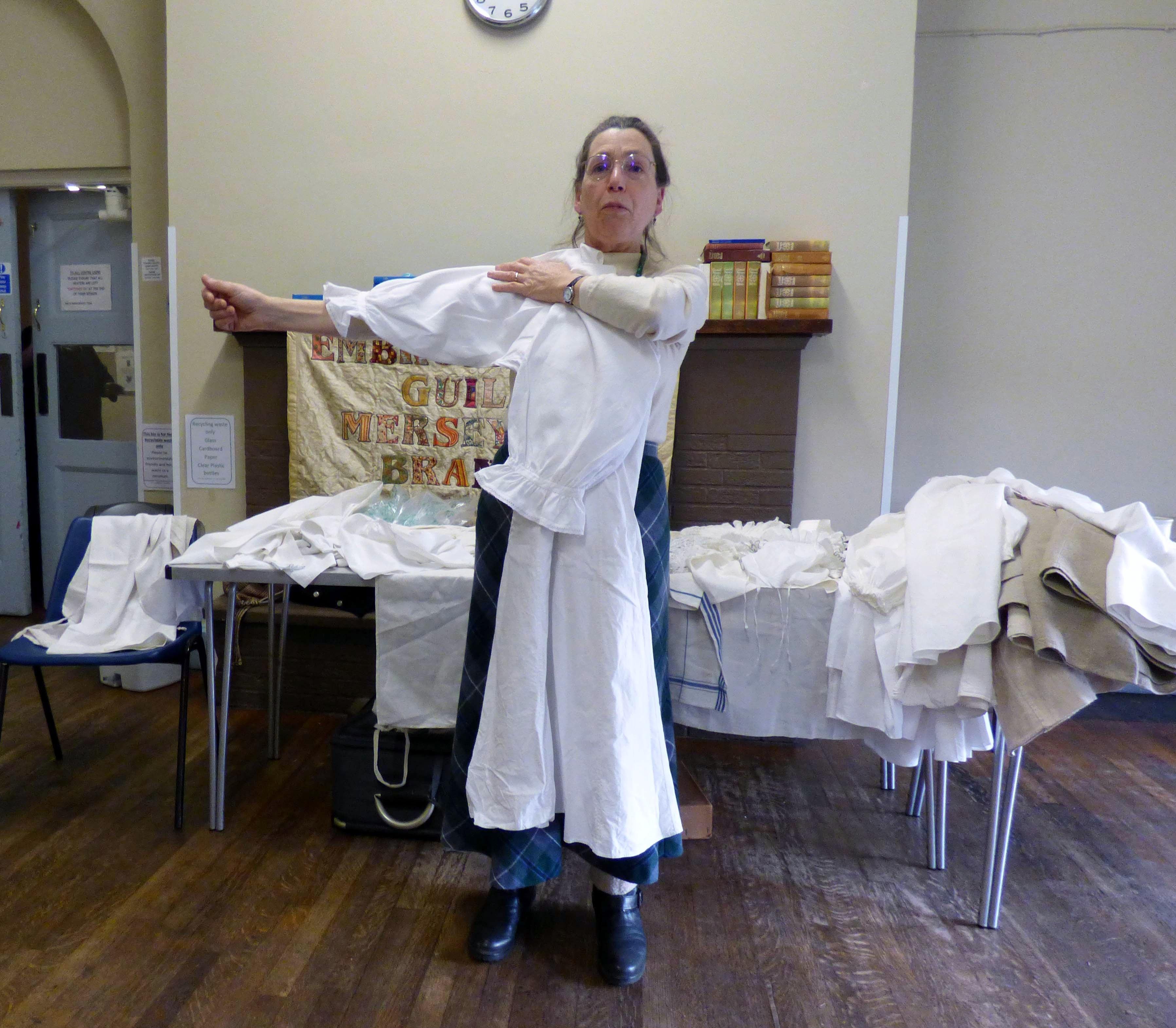 "Sarah Thursfield  Talk ""Of Seamstresses and Shirts: Plain and Not-So-Plain Sewing"", Jan 2020"