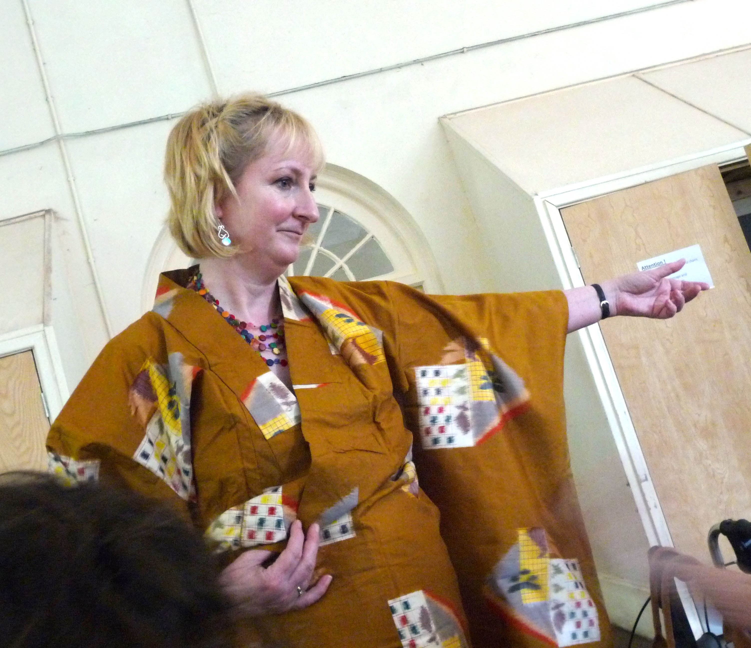 Sarah Lowes modelling a kimono at Japanese Day 2014